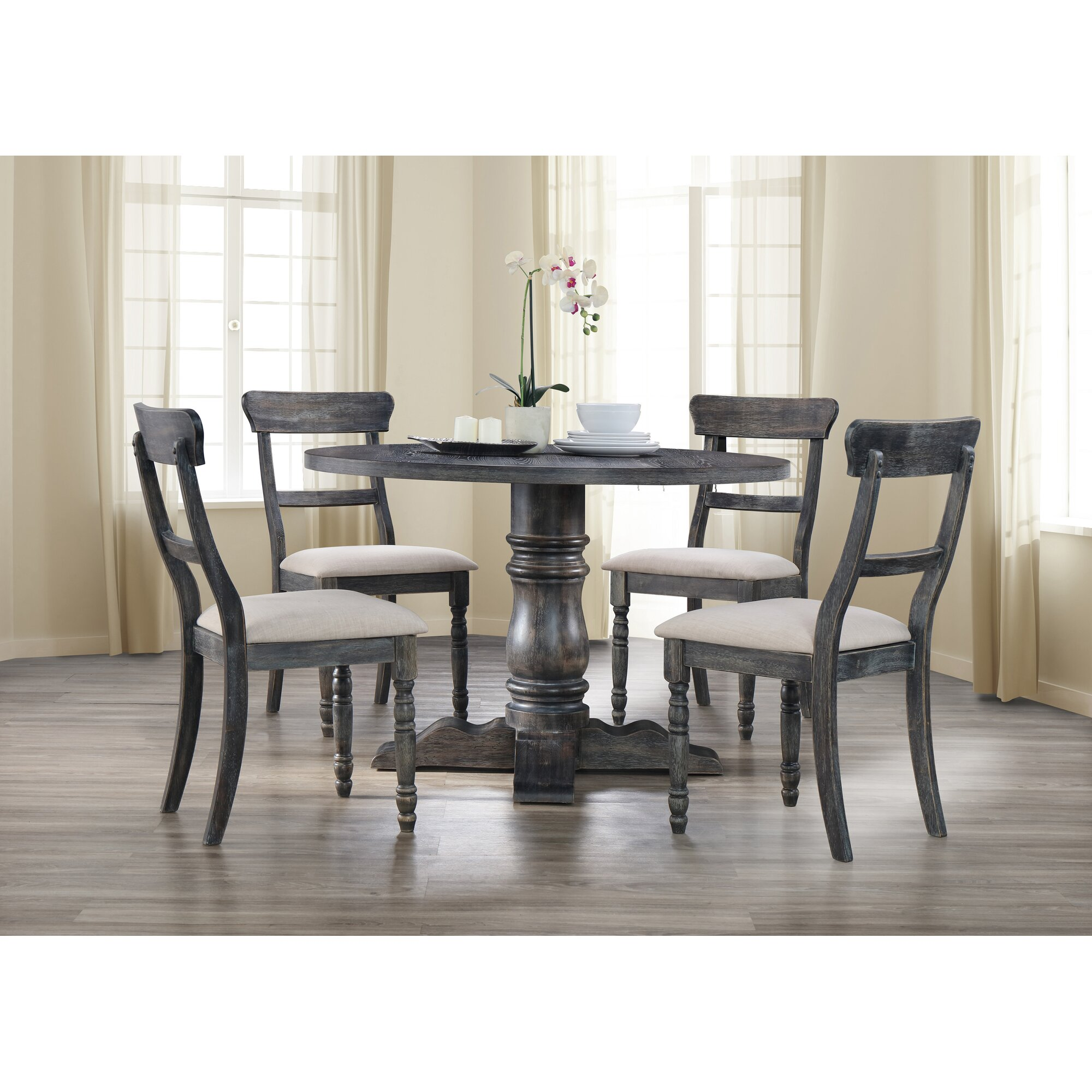 5 Chair Dining Set: BestMasterFurniture Selena 5 Piece Dining Set & Reviews