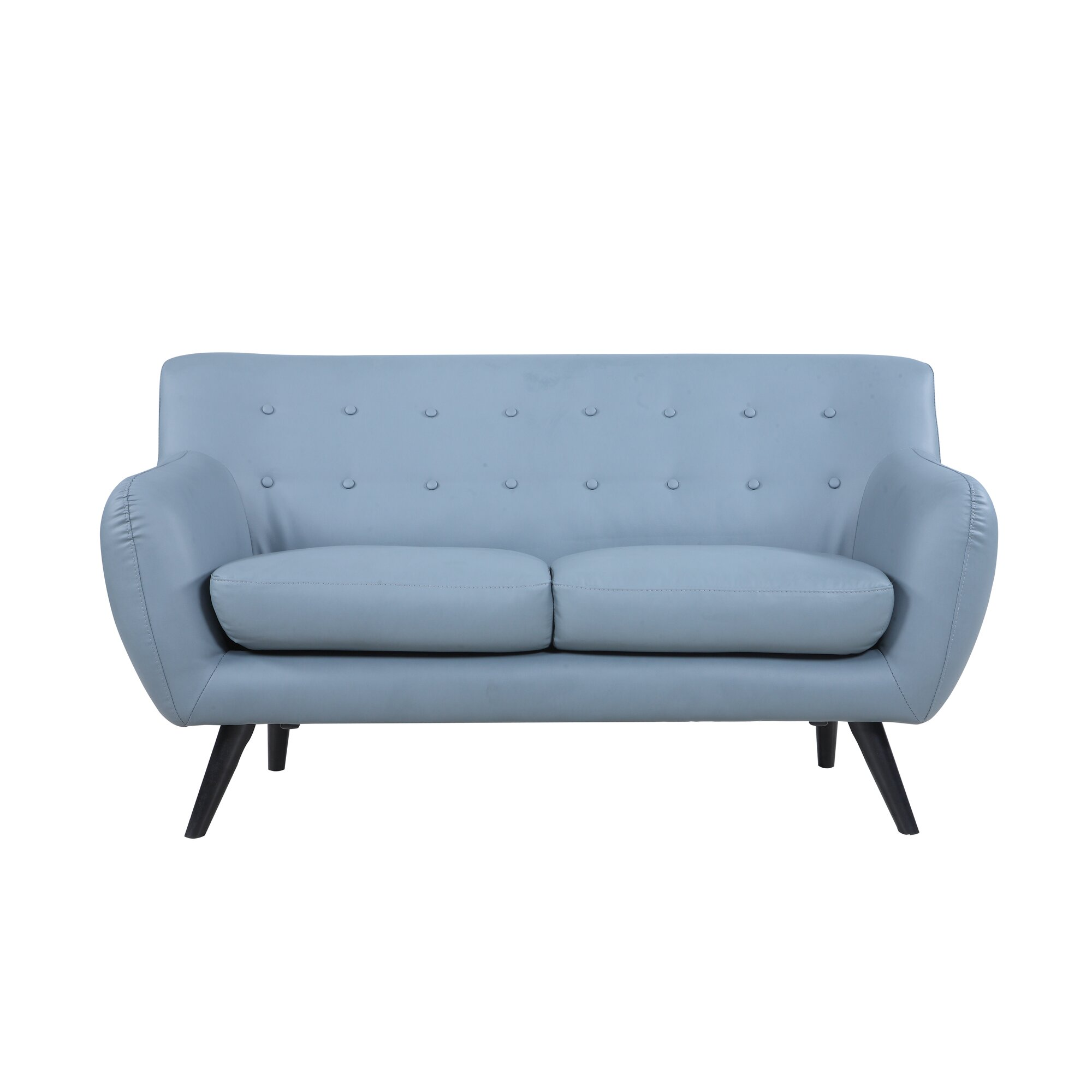 Madison Home Usa Mid Century Modern Tufted Loveseat Reviews Wayfair