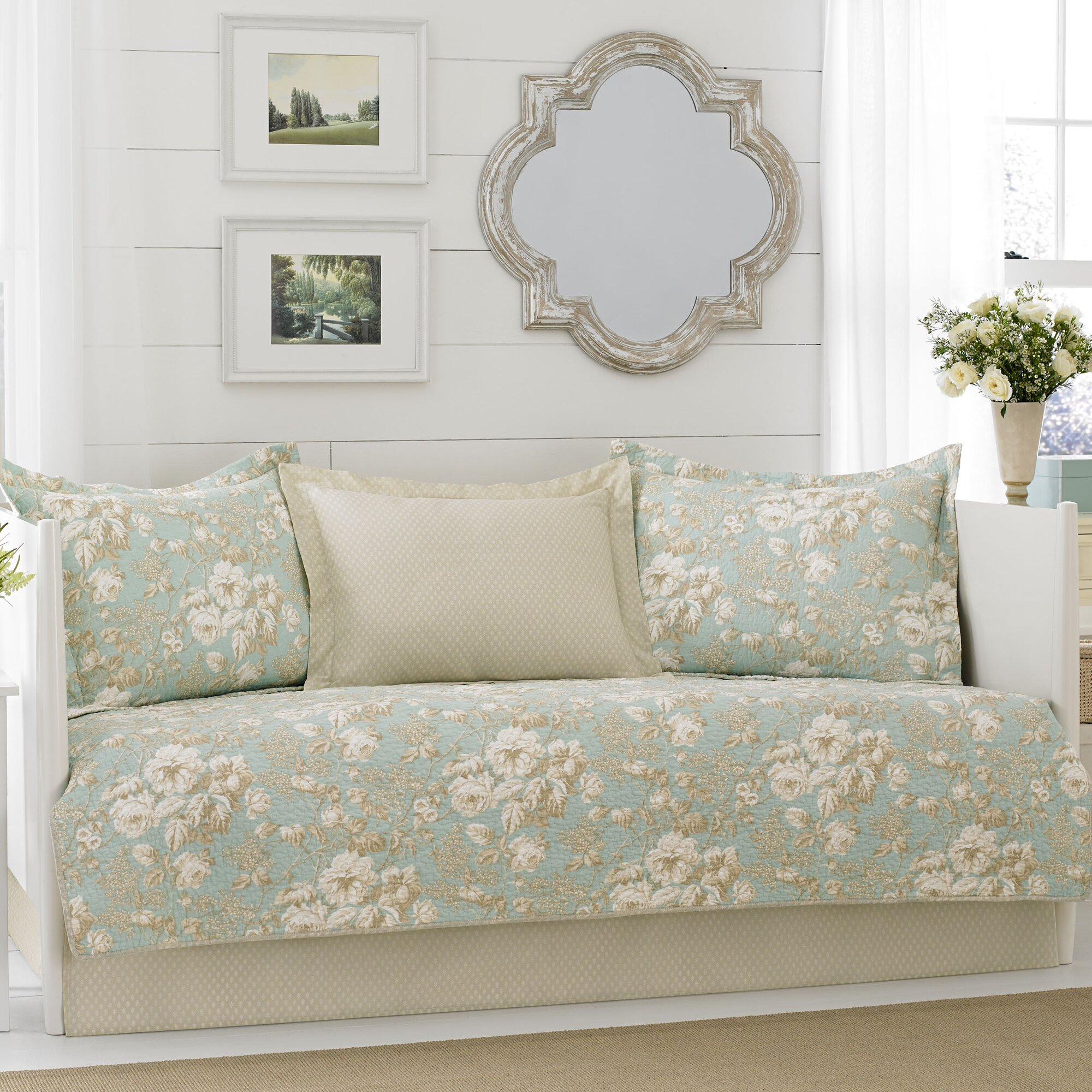 laura ashley home brompton 5 piece daybed set by laura ashley home reviews wayfair. Black Bedroom Furniture Sets. Home Design Ideas
