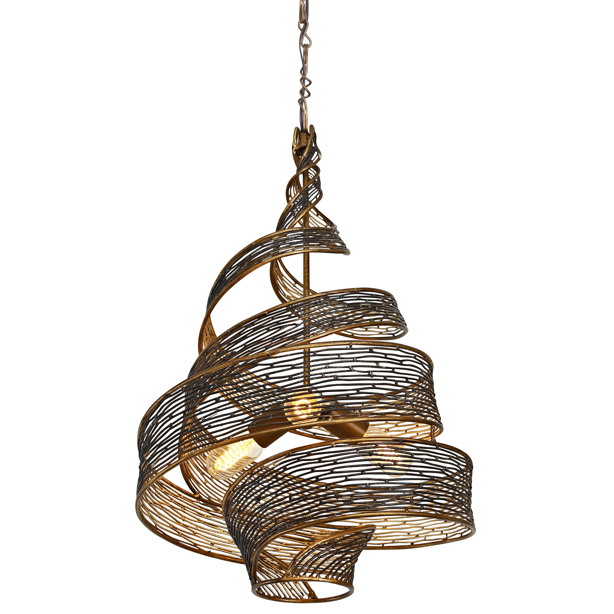 Flow 3 Light Geometric Pendant Amp Reviews Allmodern