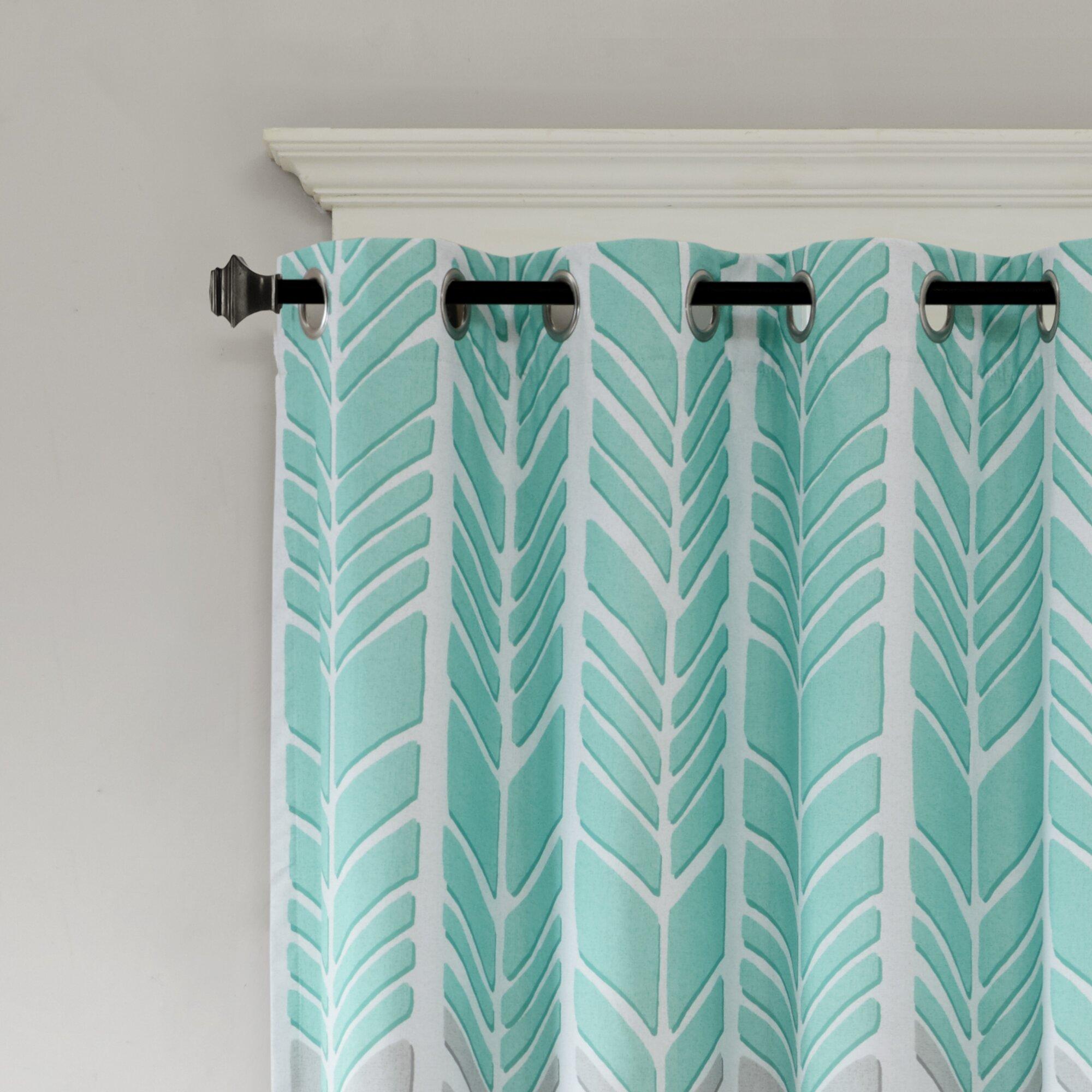 Intelligent Design Adel Chevron Blackout Single Curtain