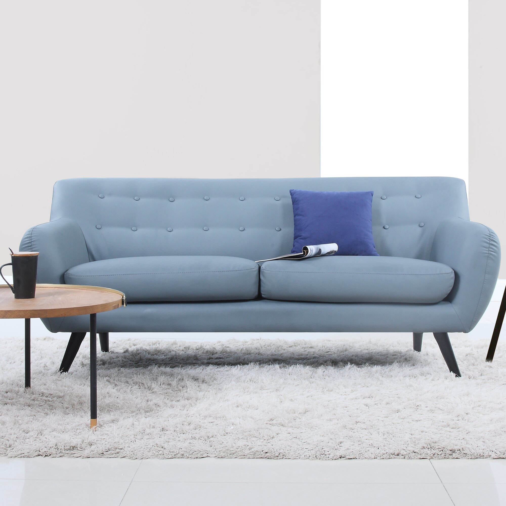 Mid Century Modern Sofas: Mid Century Modern Tufted Sofa & Reviews