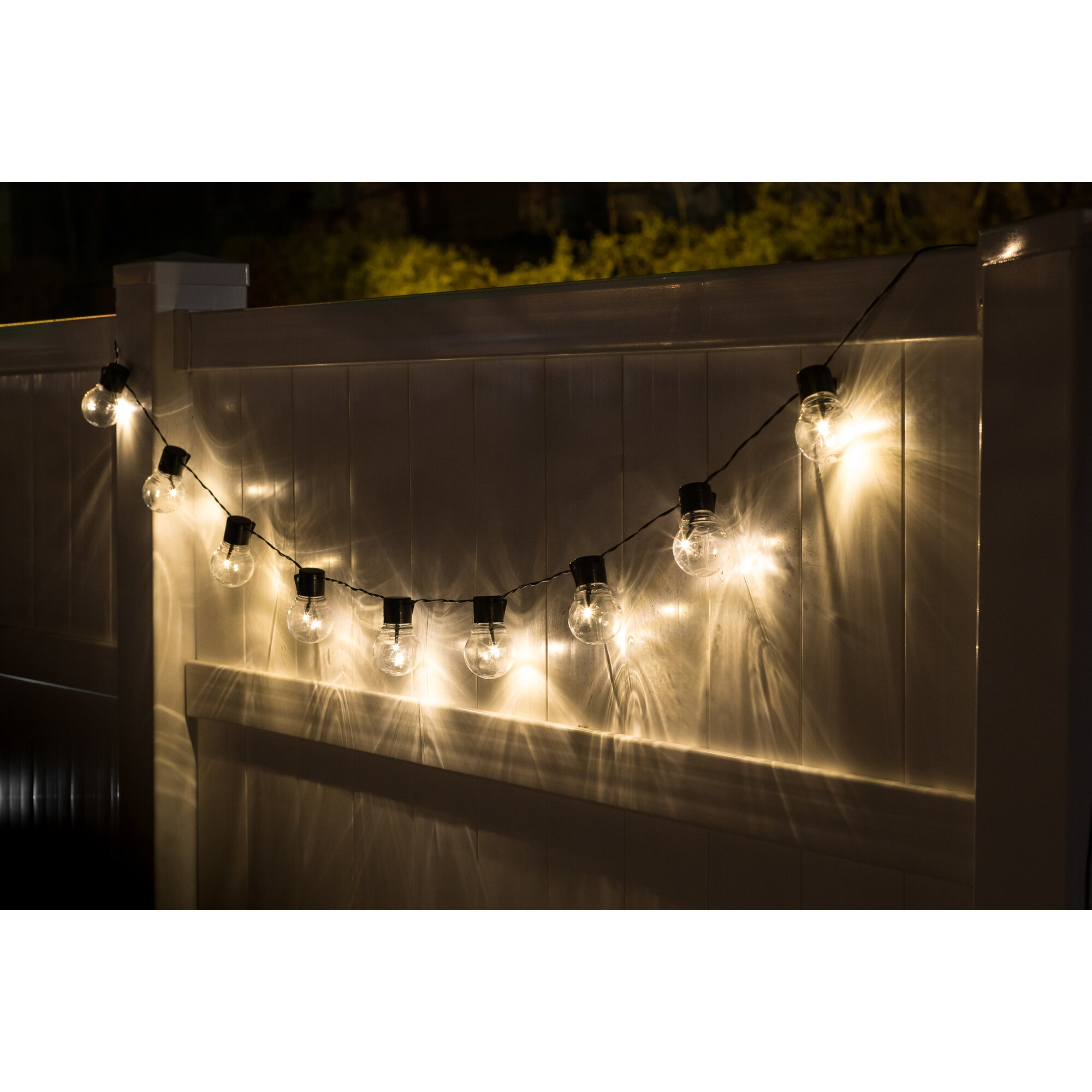 Clear Globe Solar String Lights : Touch of ECO Nitebulbs Solar 10-Light Globe String Lights & Reviews Wayfair
