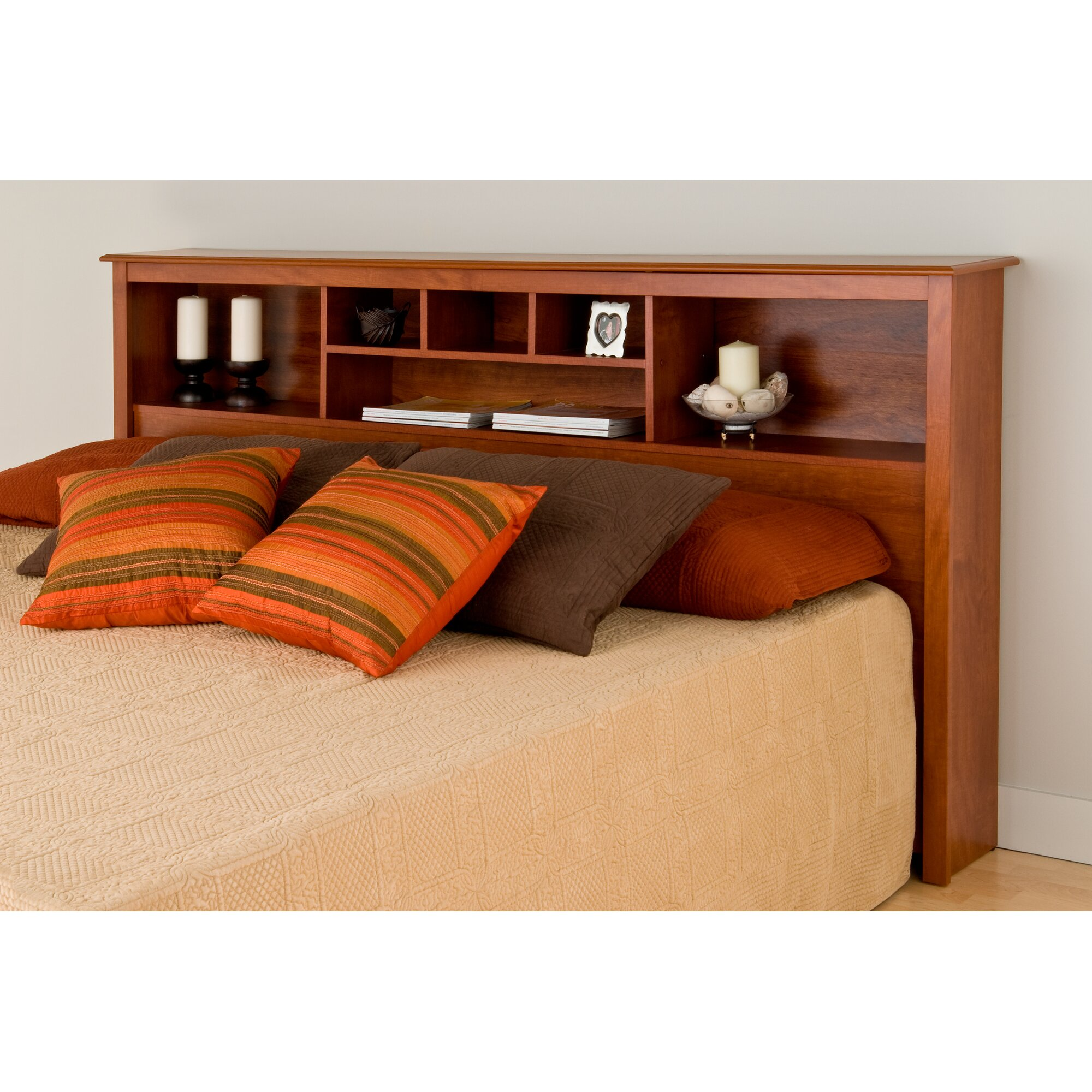 andover mills sybil king bookcase headboard  reviews  wayfair, Headboard designs