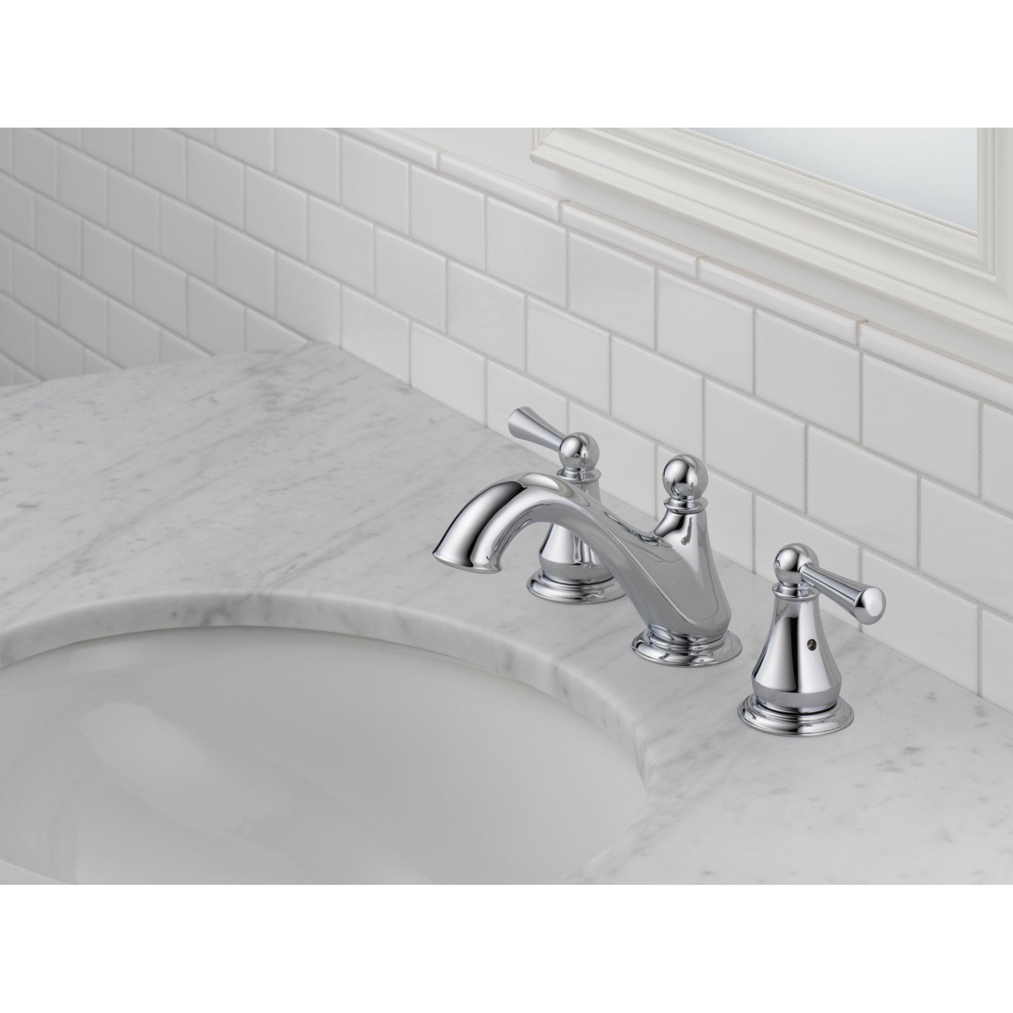 Delta haywood double handle widespread bathroom faucet reviews wayfair for Bathroom sink faucets reviews