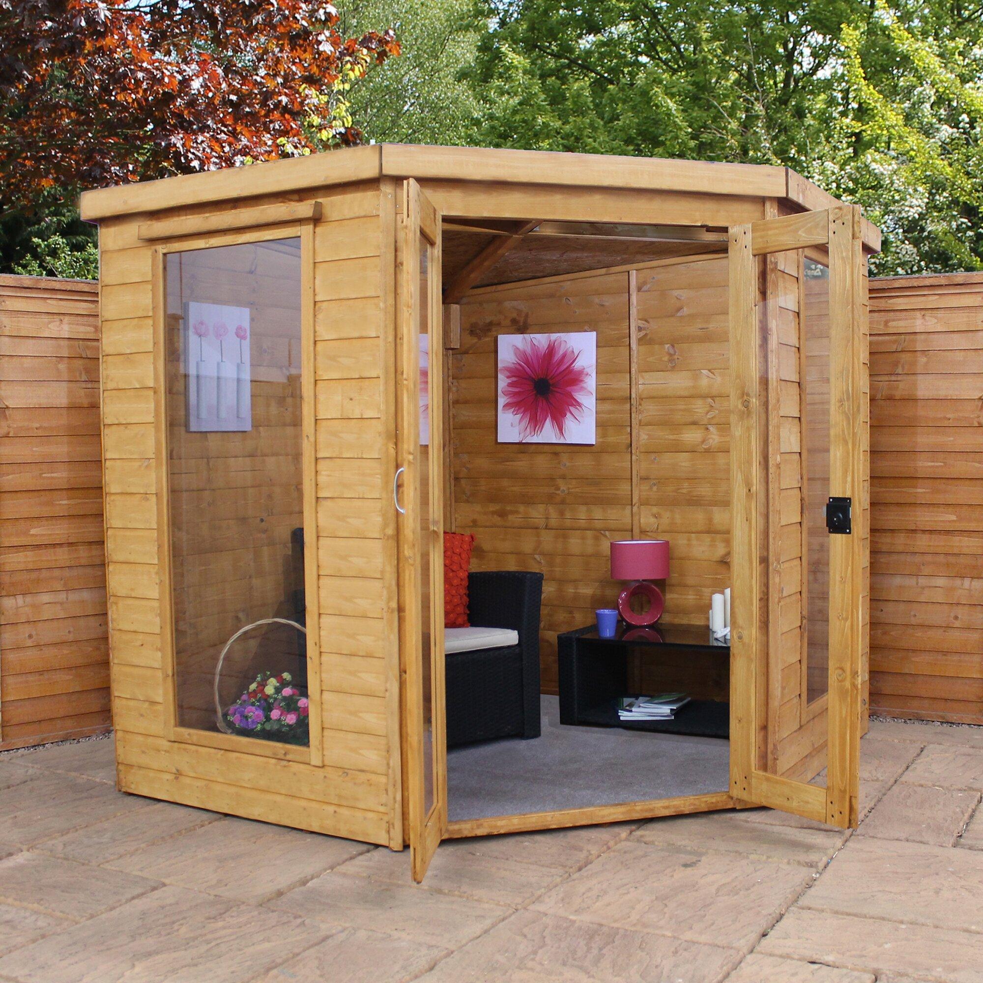 Mercia Garden Products 7 x 7 Corner Summerhouse & Reviews ...