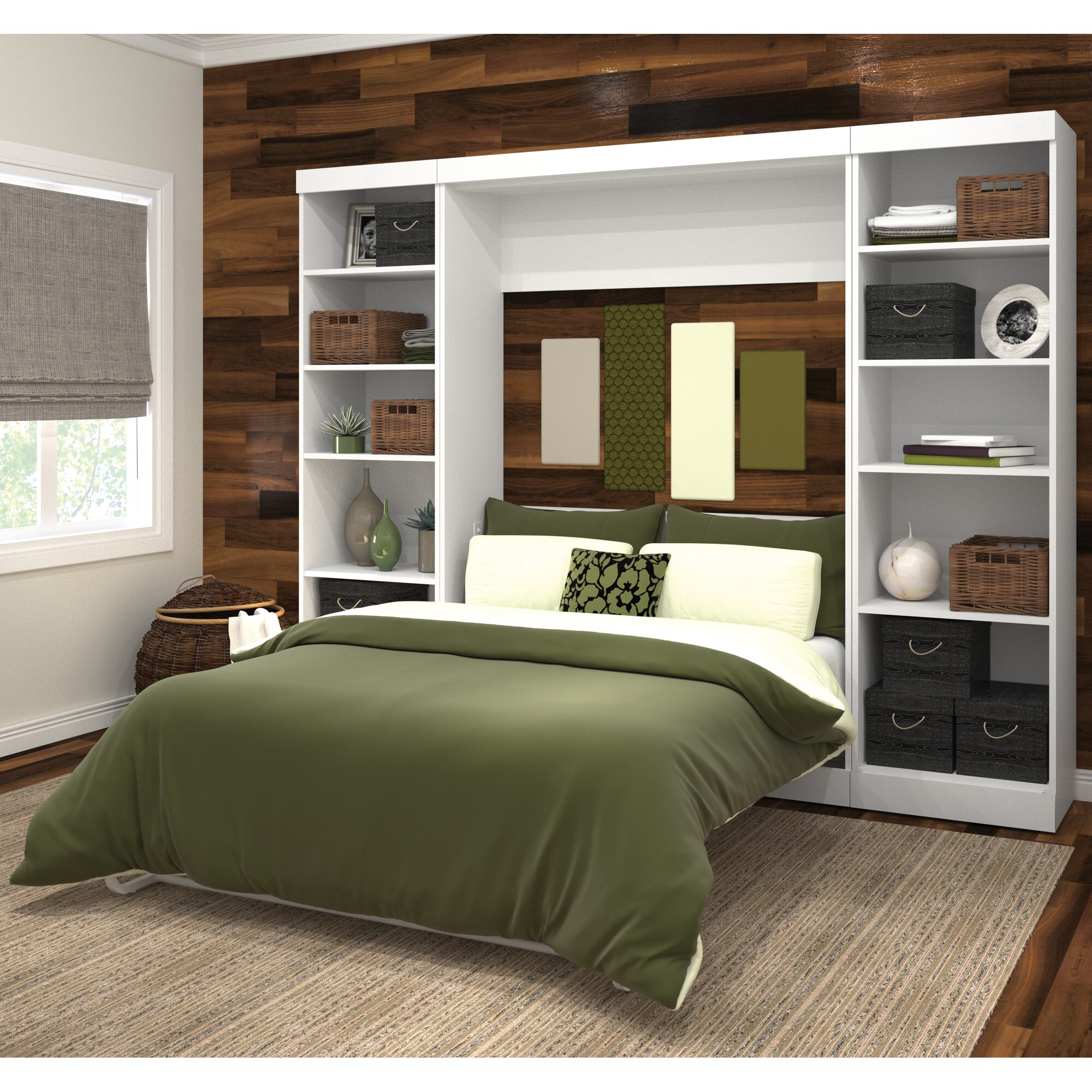 Brayden Studio Walley Full Double Murphy Bed Amp Reviews