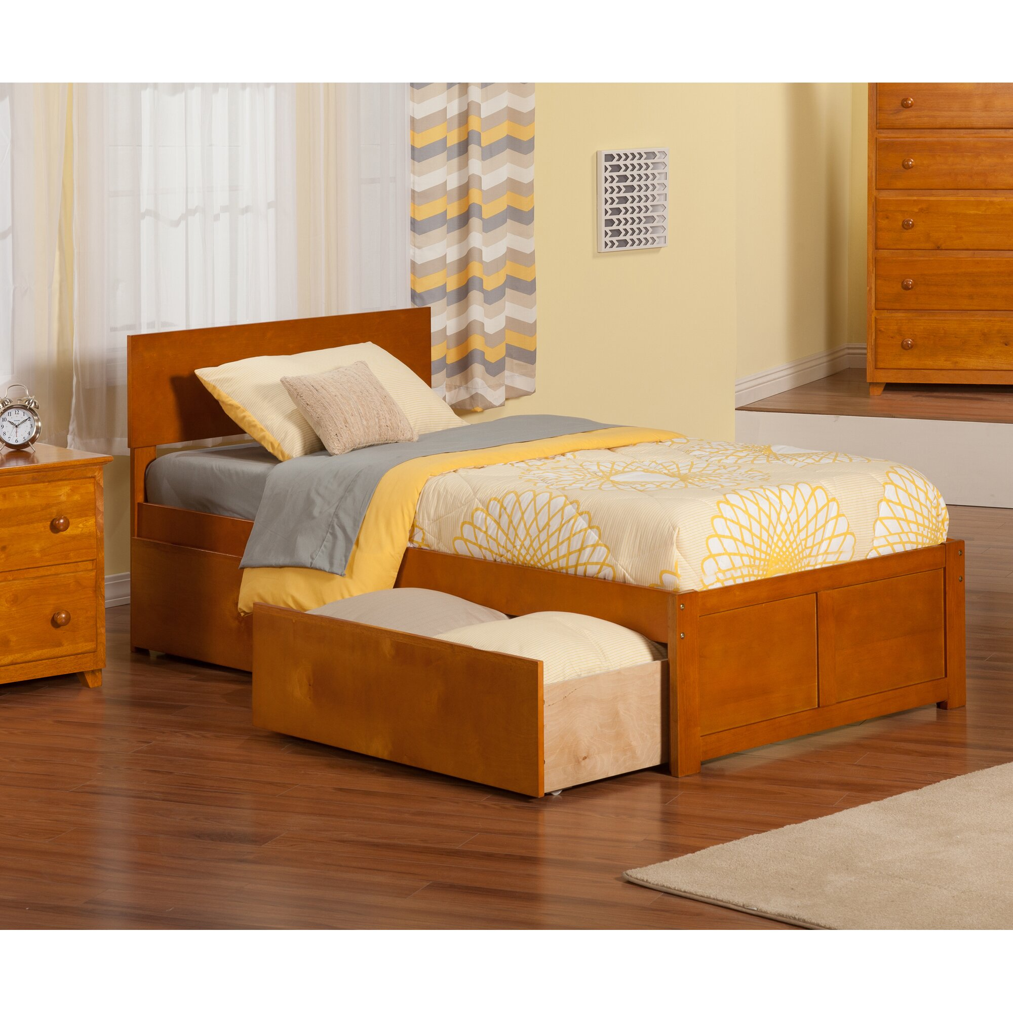 Viv Rae Mathias Extra Long Twin Panel Bed with Storage