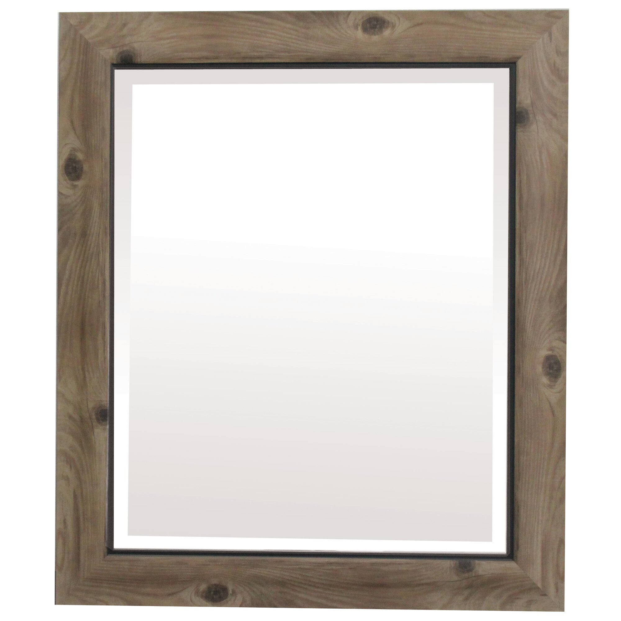 Laurel foundry modern farmhouse alyssa retangle gray black for Accent wall mirrors