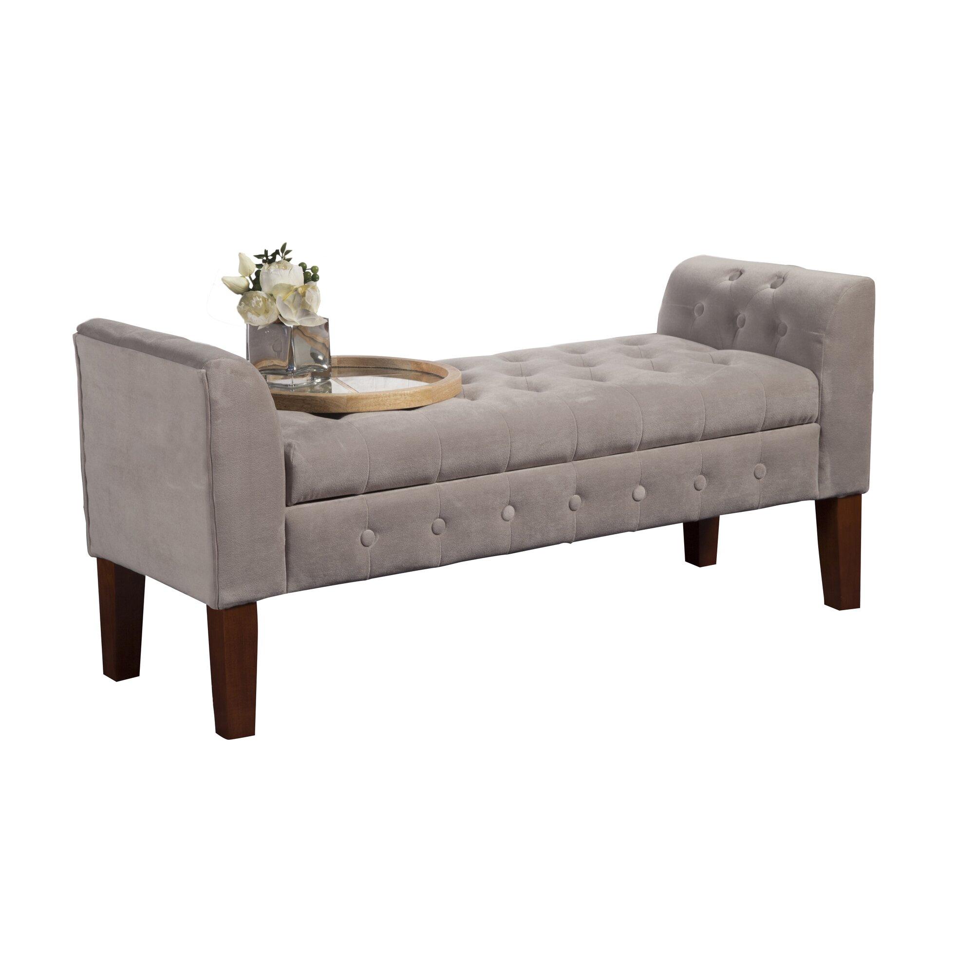 Varian Upholstered Storage Bedroom Bench Birchlane: Wilford Upholstered Storage Bedroom Bench & Reviews