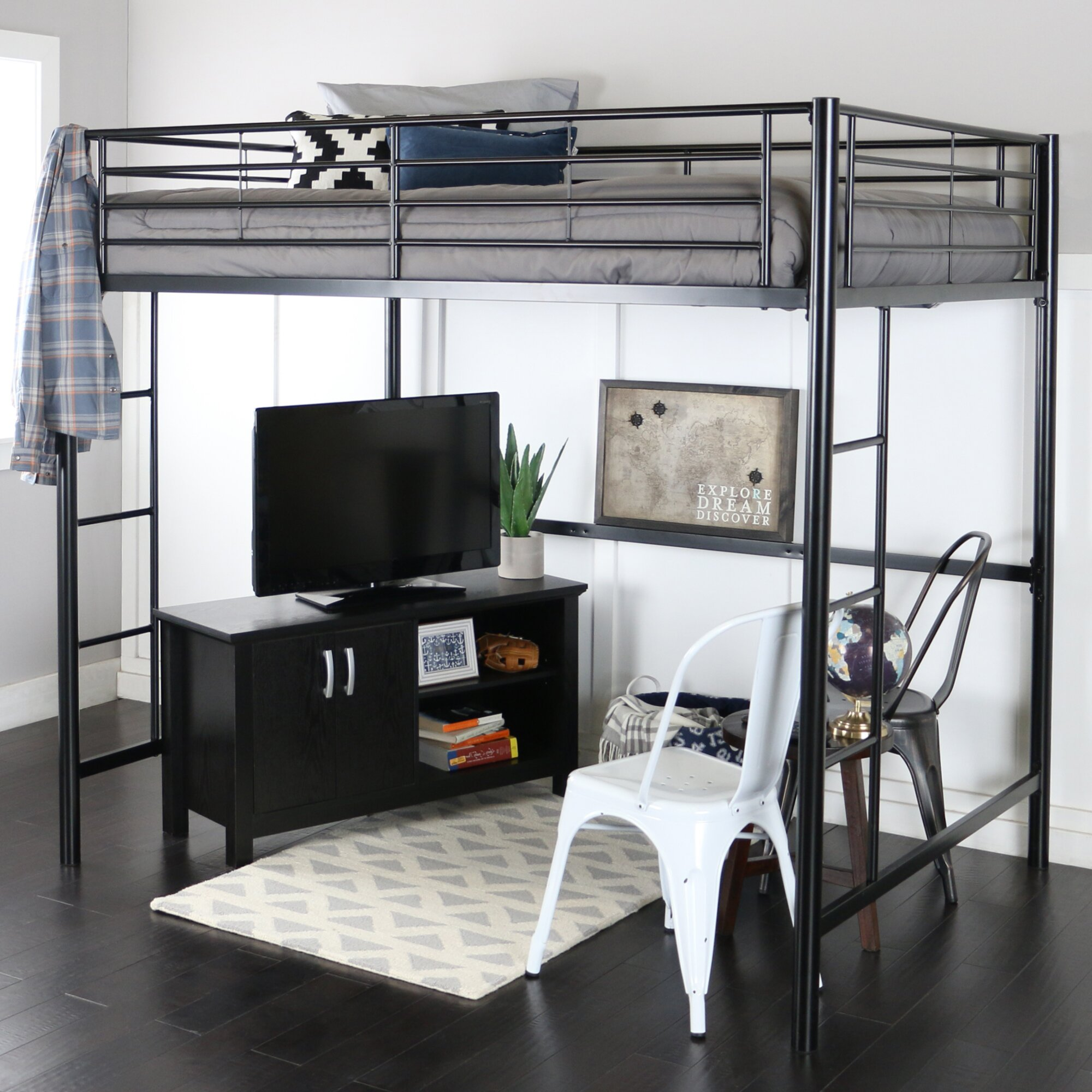 Viv + Rae Maurice Full Loft Bed Customizable Bedroom Set & Reviews ...