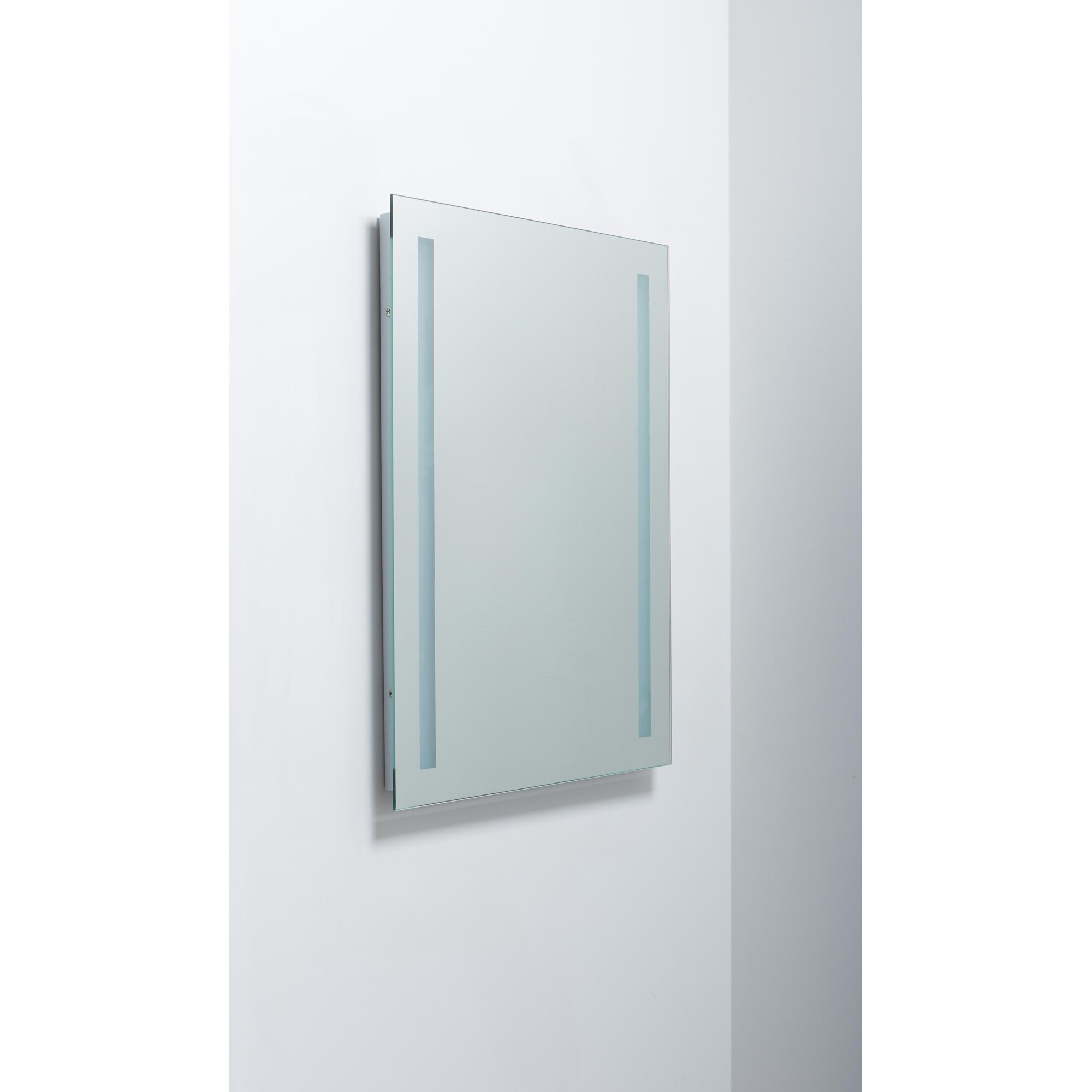 lighted and illuminated beautiful wall mirror - Erias Home Designs