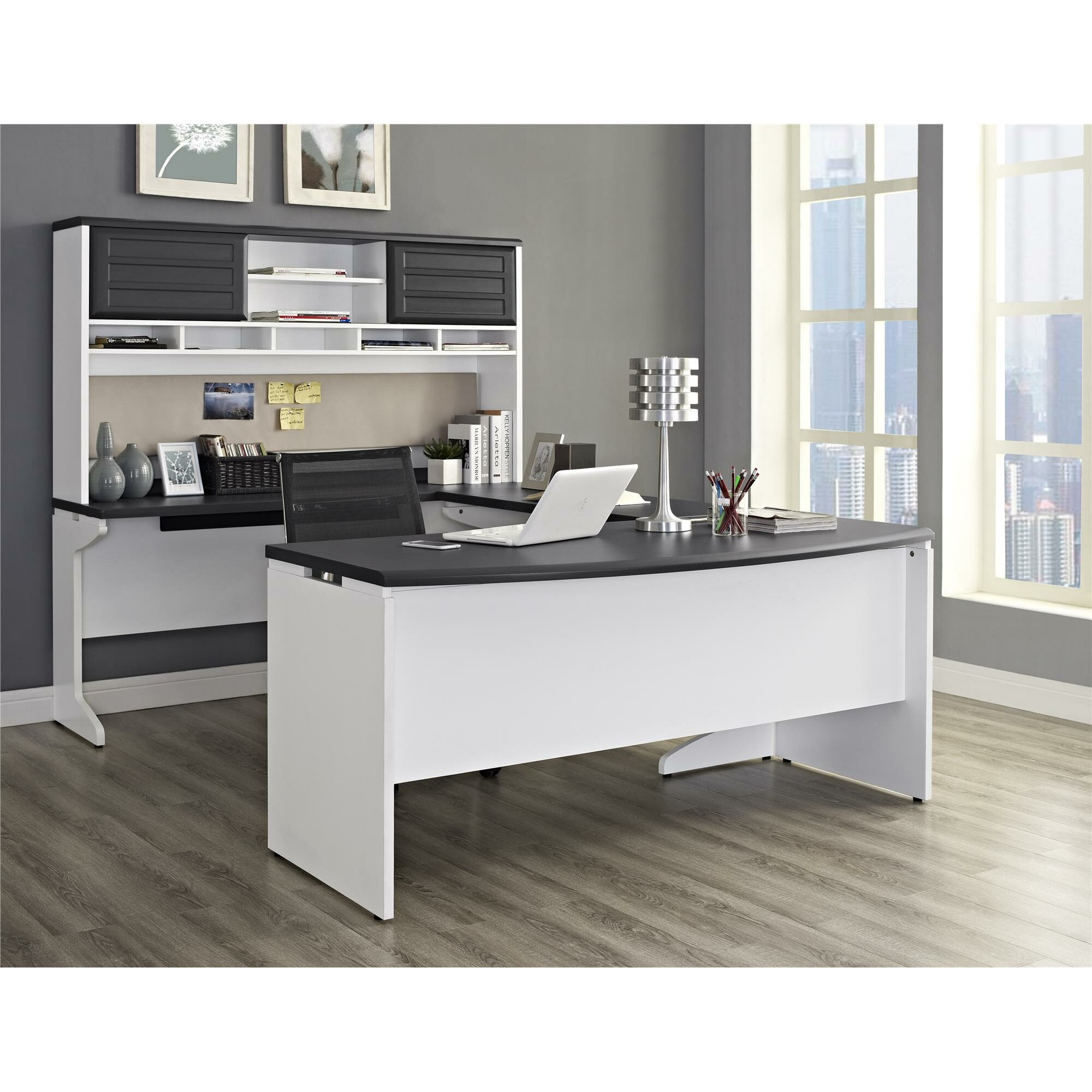 Latitude Run Elizabeth U Shape Executive Desk With Hutch