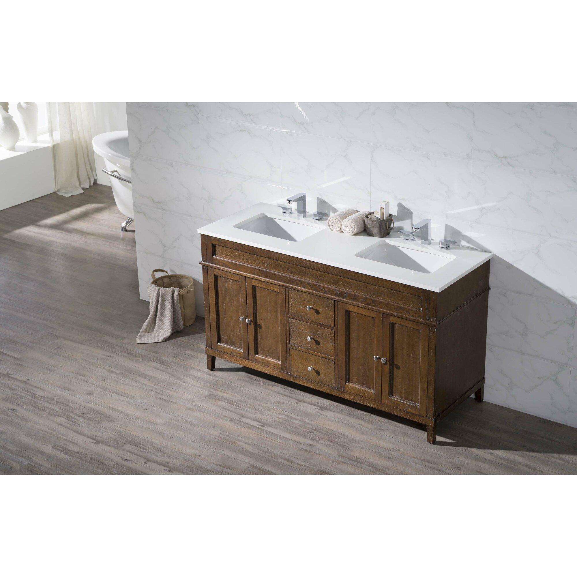 Dcor Design Oakmont 59 Double Sink Bathroom Vanity Set Reviews Wayfair