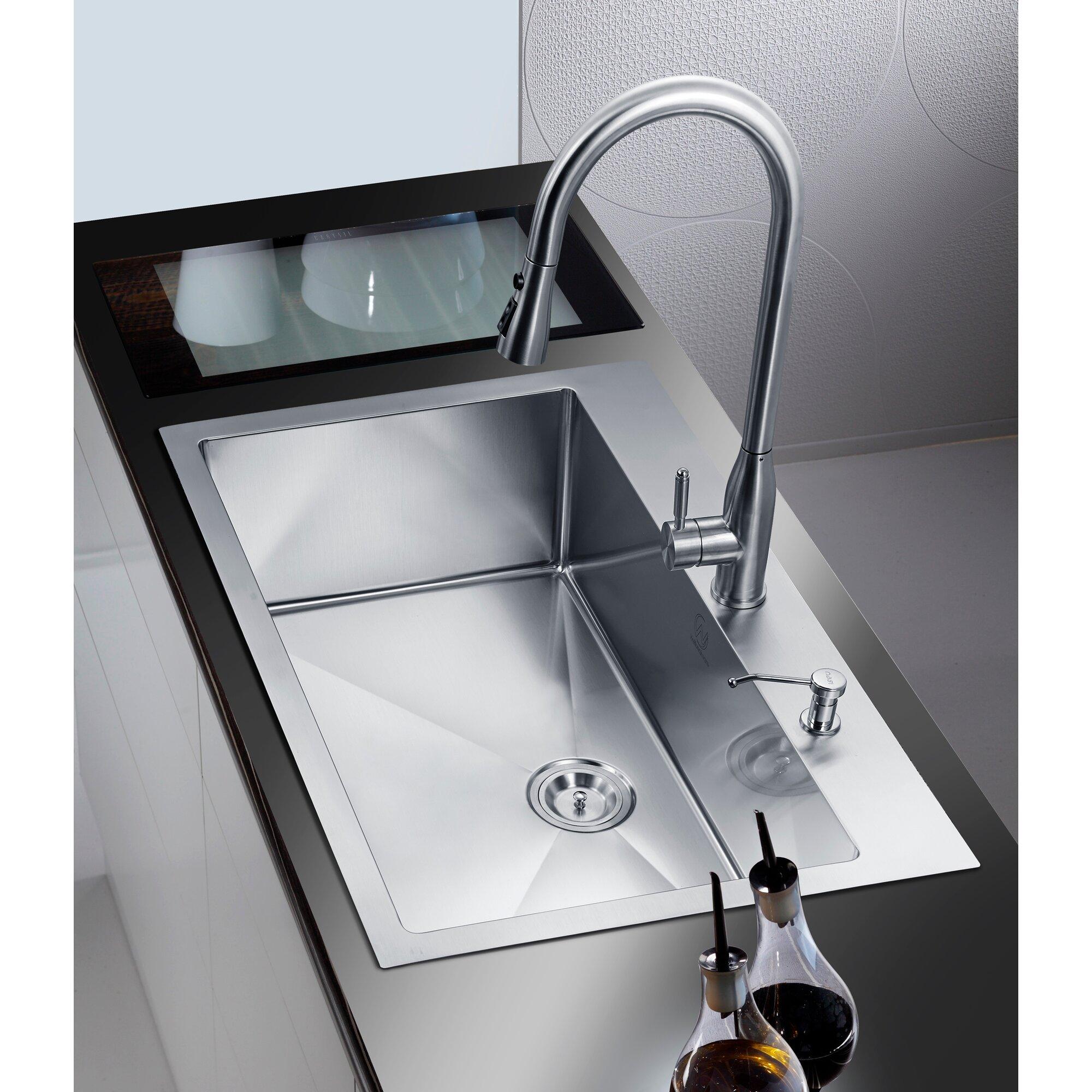 33 x 22 single drop in kitchen sink - Kitchen Sink Drop In