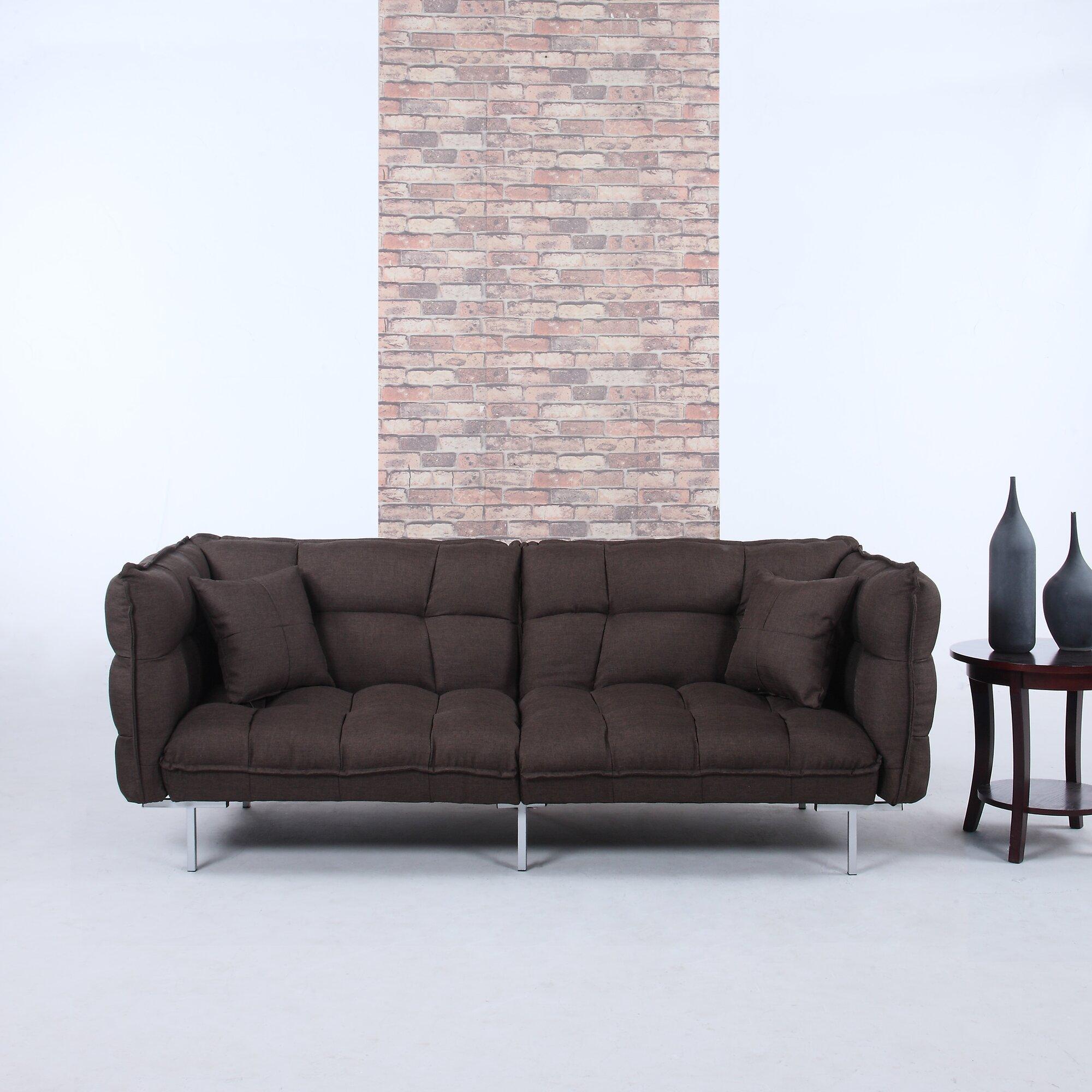 Madison Home Usa Modern Plush Tufted Linen Splitback Living Room Sleeper Sofa Wayfair