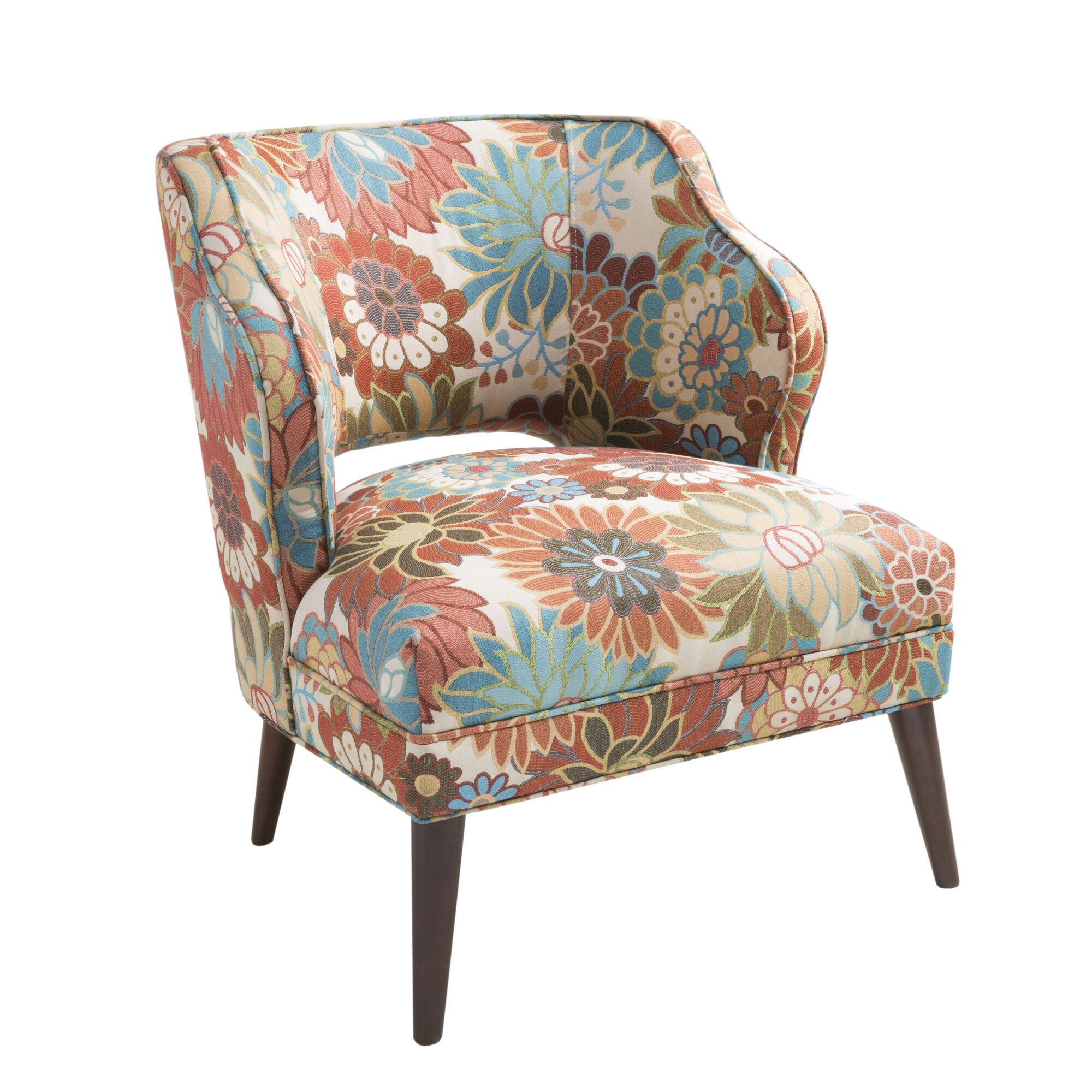 Latitude Run Nolan Floral Mod Side Chair Reviews Wayfair