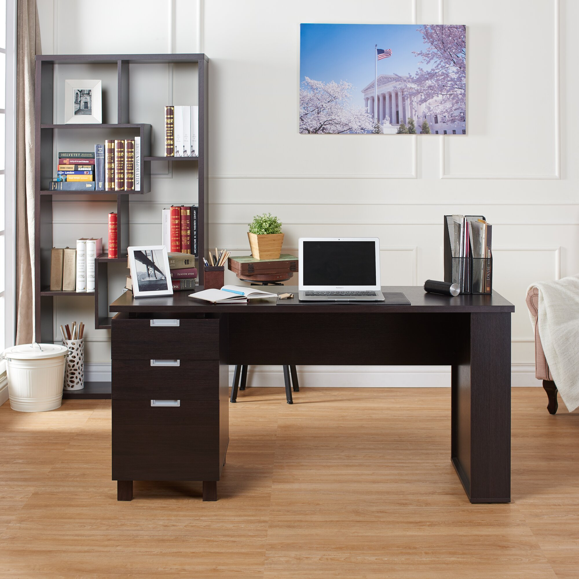 Maxwell File Cabinet Computer Desk & Reviews