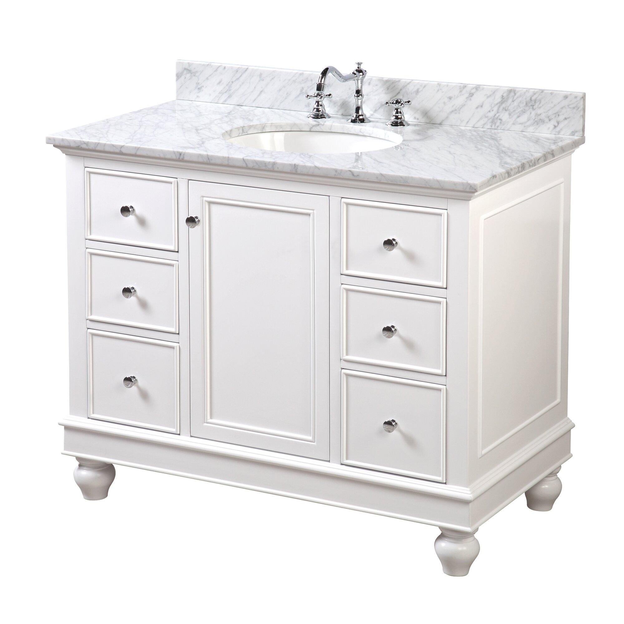 Kbc bella 42 single bathroom vanity set reviews wayfair for 42 inch vanities for bathrooms