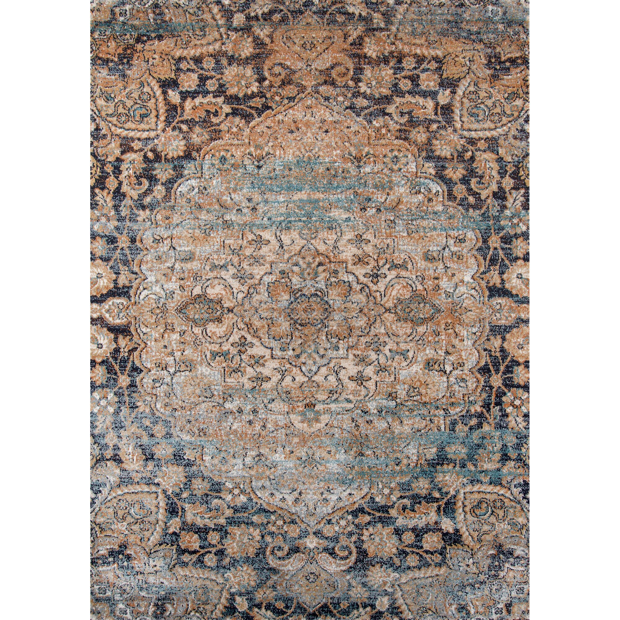 Bungalow Rose Salena Blue Brown Area Rug Amp Reviews Wayfair