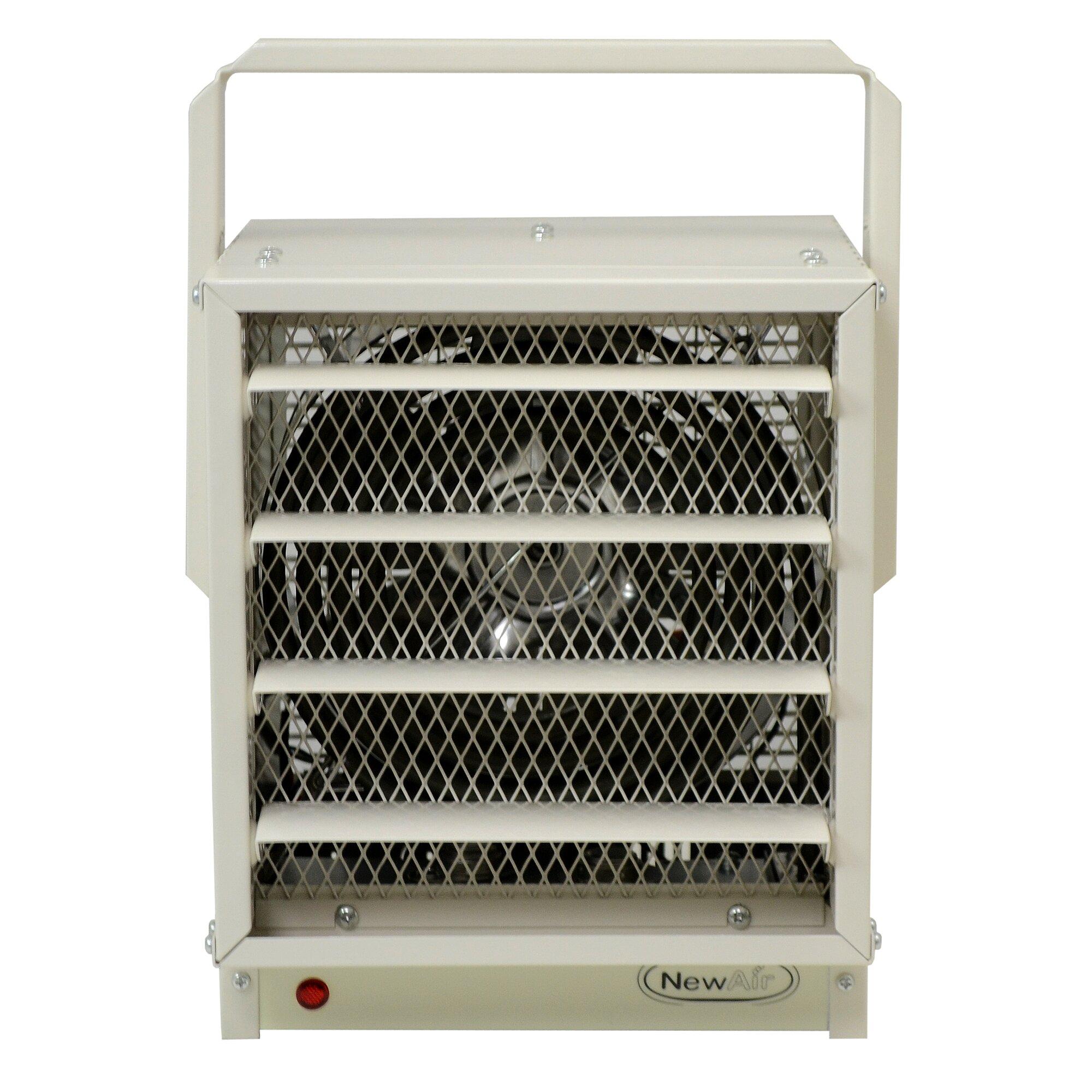 newair 5 watts fan forced wall ceiling electric garage space heater newa garage electric heater 5 - Electric Shop Heater