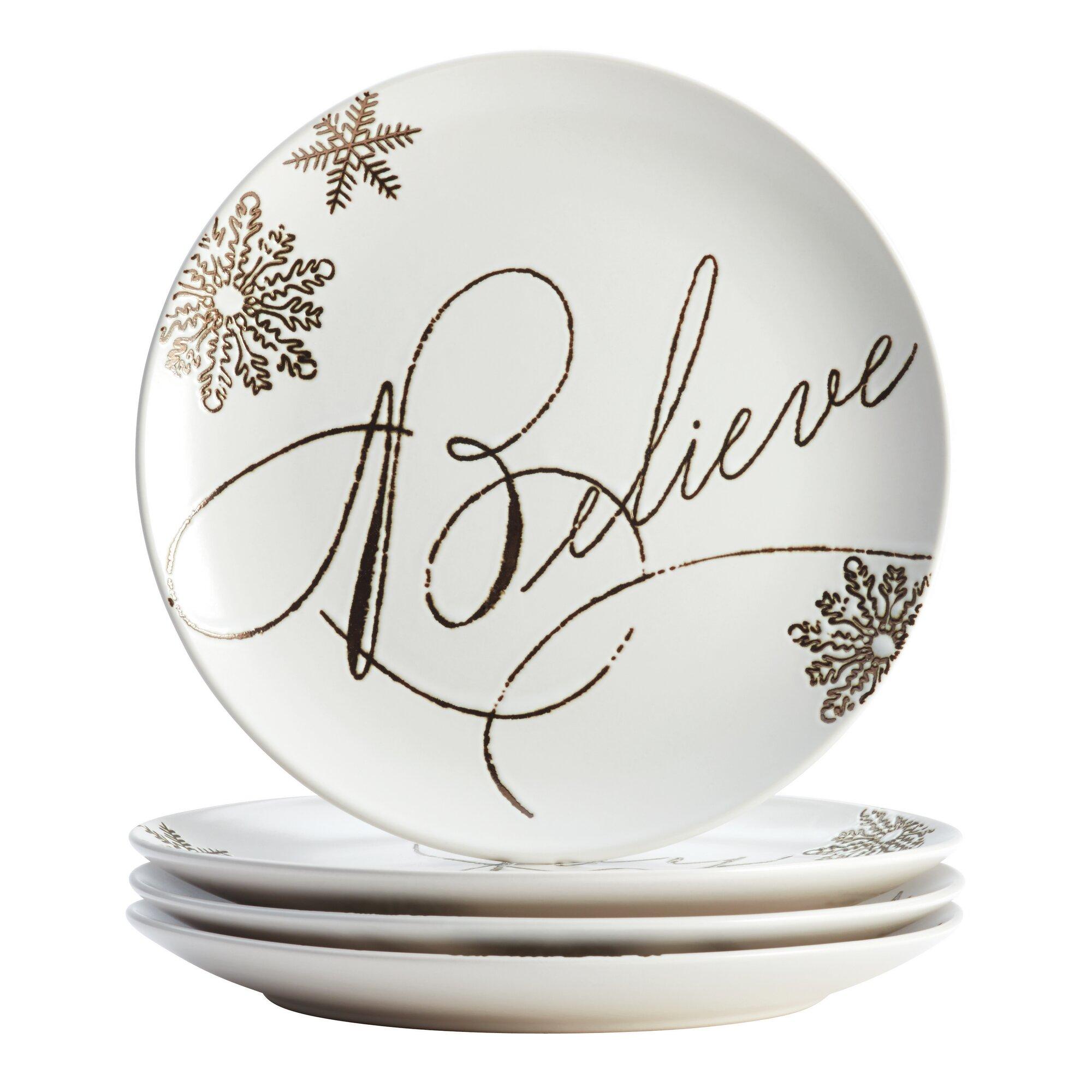 Paula Deen 4 Piece Holiday Dessert Plate Set Amp Reviews