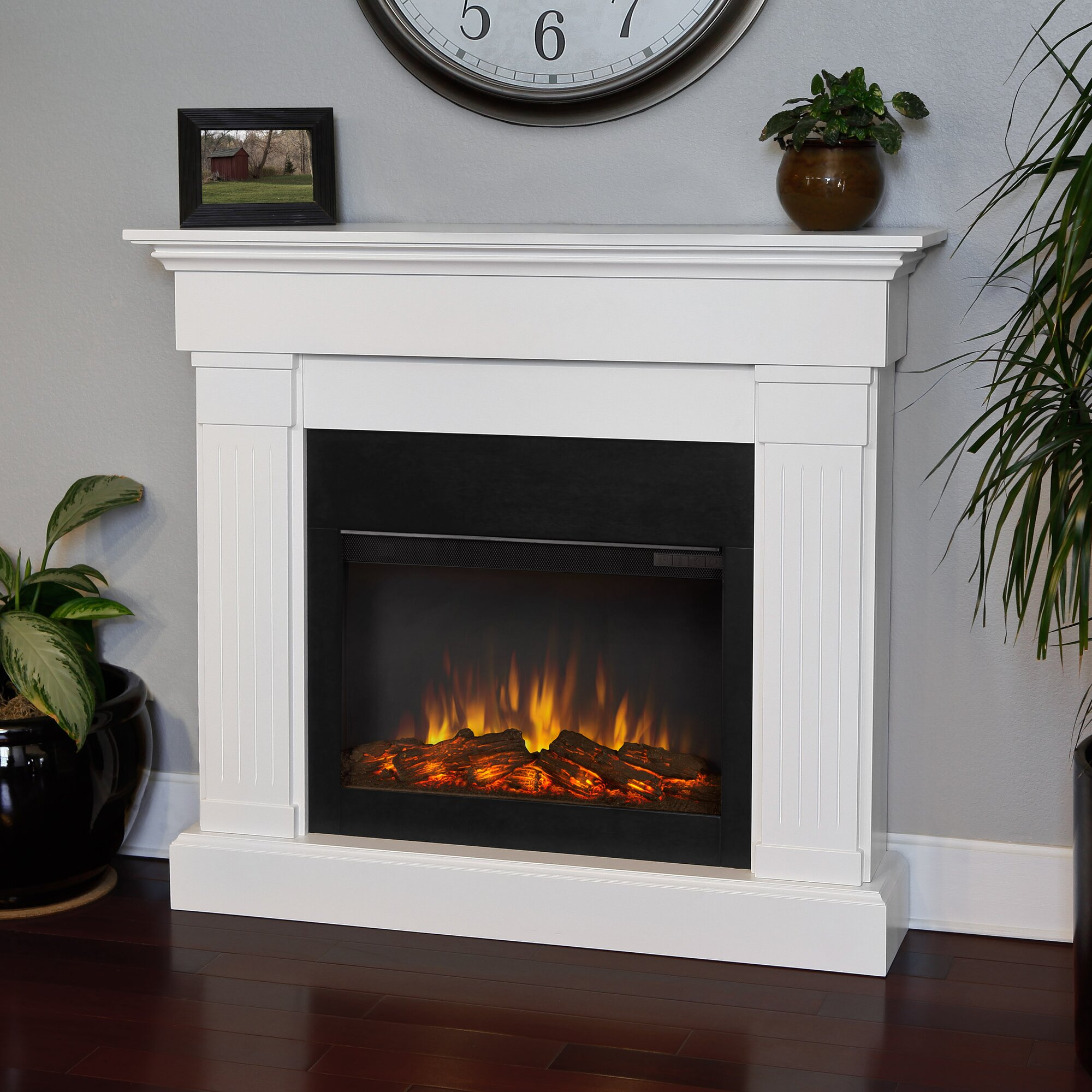 Bedroom electric fireplace - Slim Crawford Wall Mount Electric Fireplace