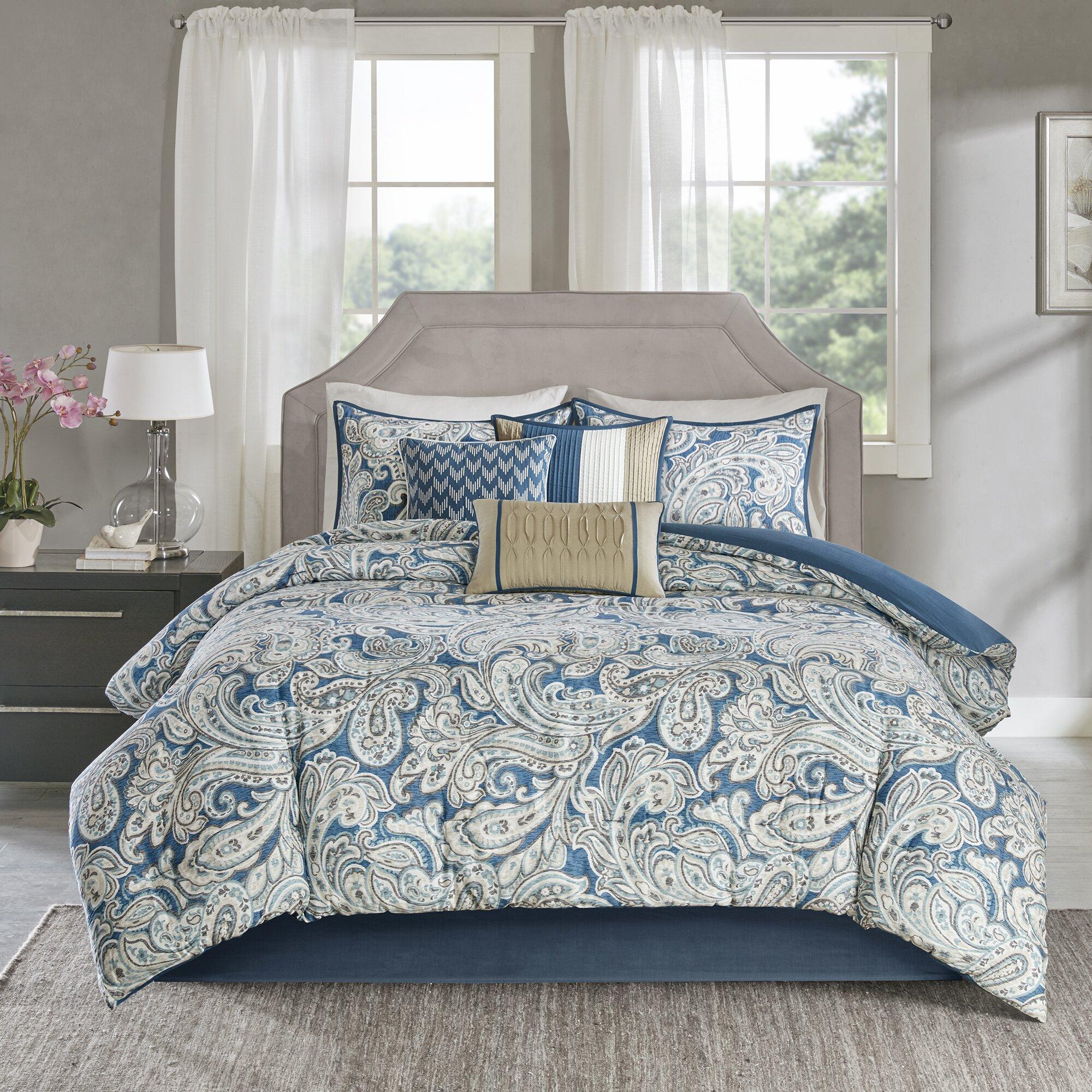 astoria grand arterbury 7 piece comforter set reviews wayfair. Black Bedroom Furniture Sets. Home Design Ideas