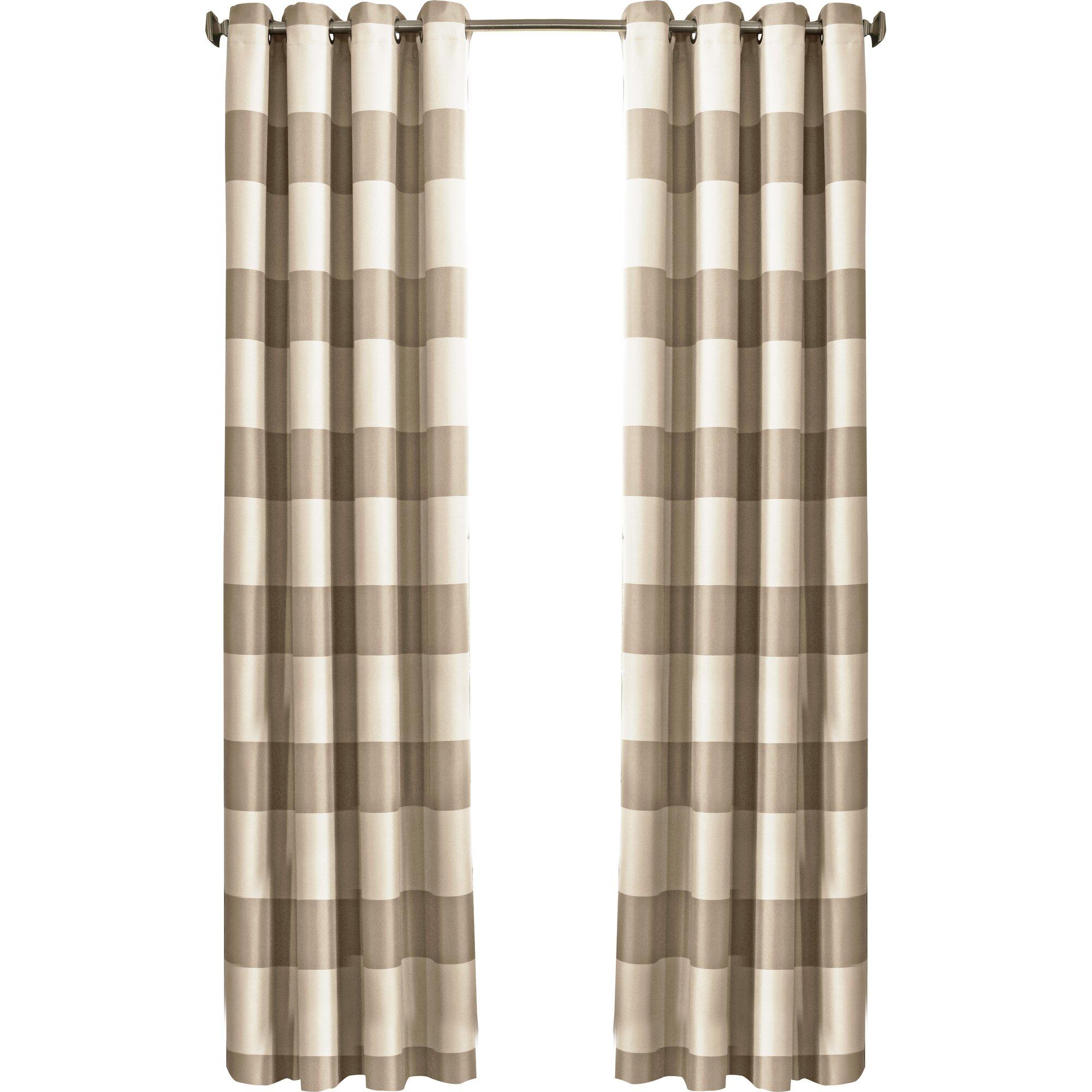 Gautier Striped Blackout Grommet Single Curtain Panel