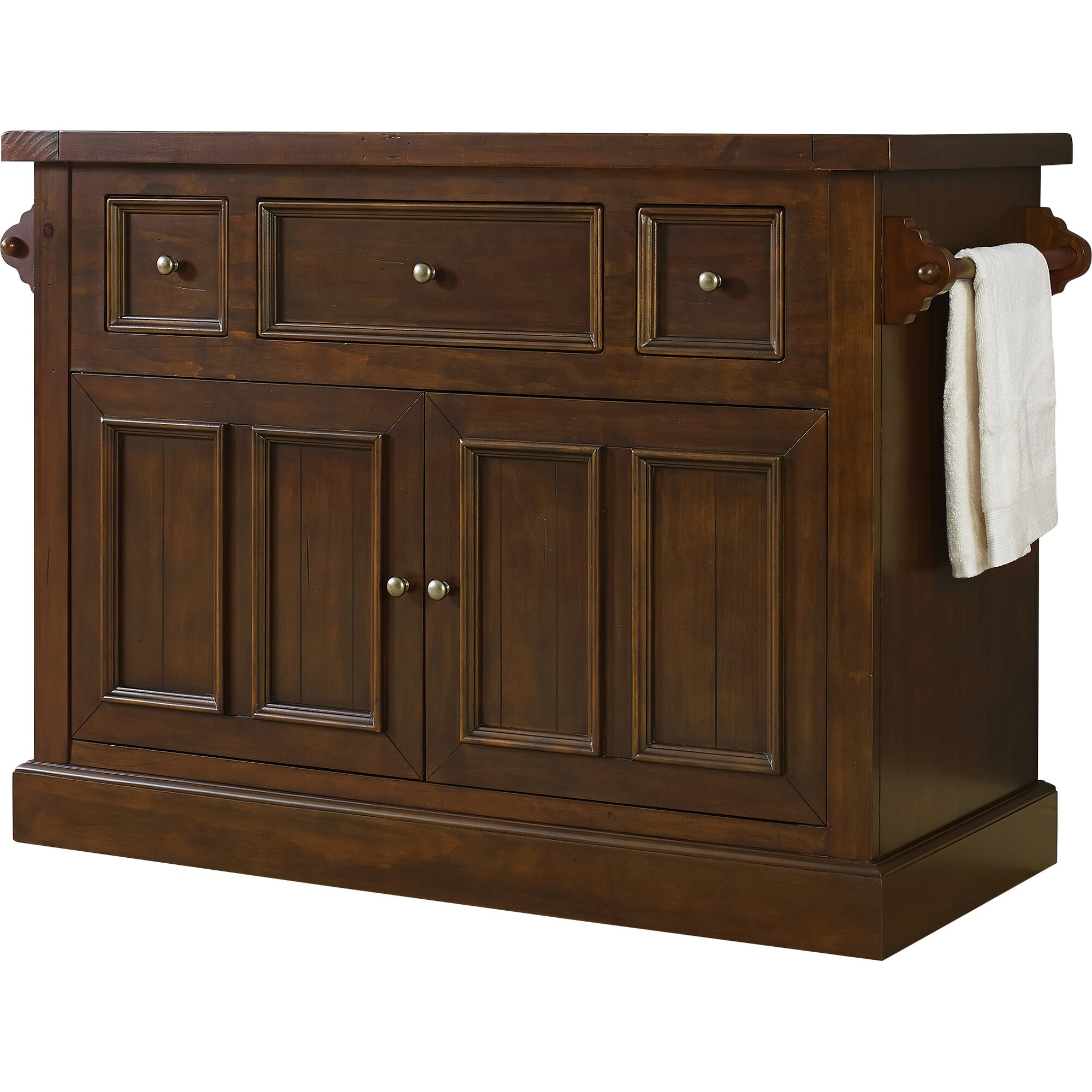 ordway kitchen island with marble top reviews birch lane