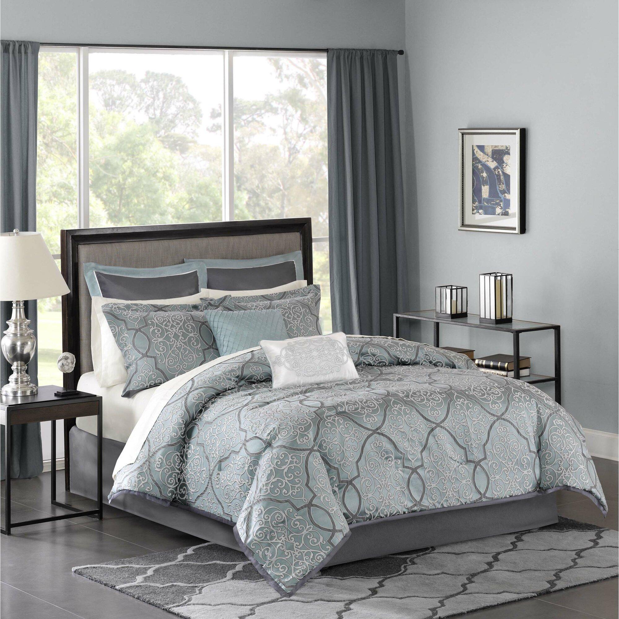Blue bedspreads and comforters - Dreiling 12 Piece Comforter Set