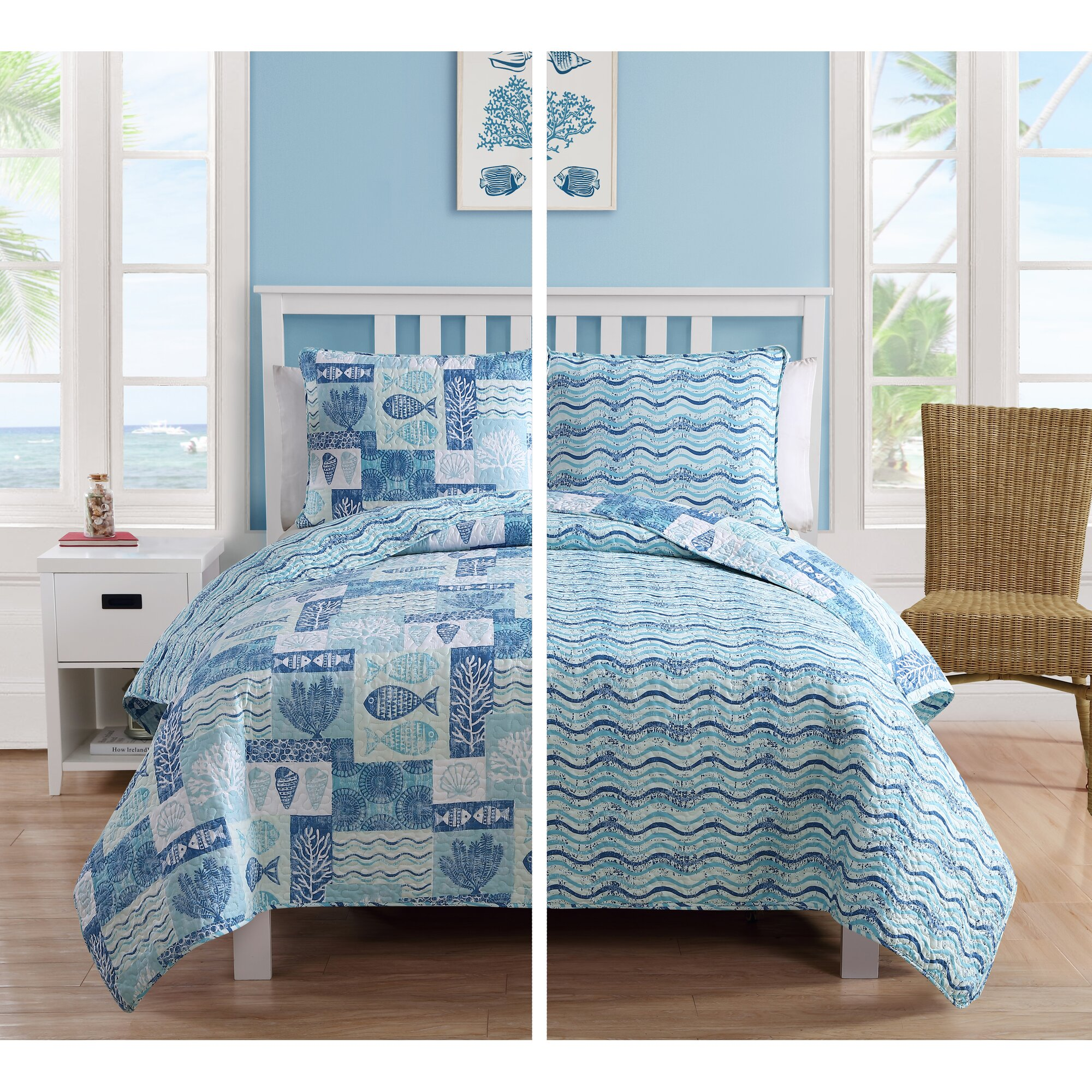 Beachcrest home hopewell 3 piece quilt set reviews wayfair for Quilted kitchen set