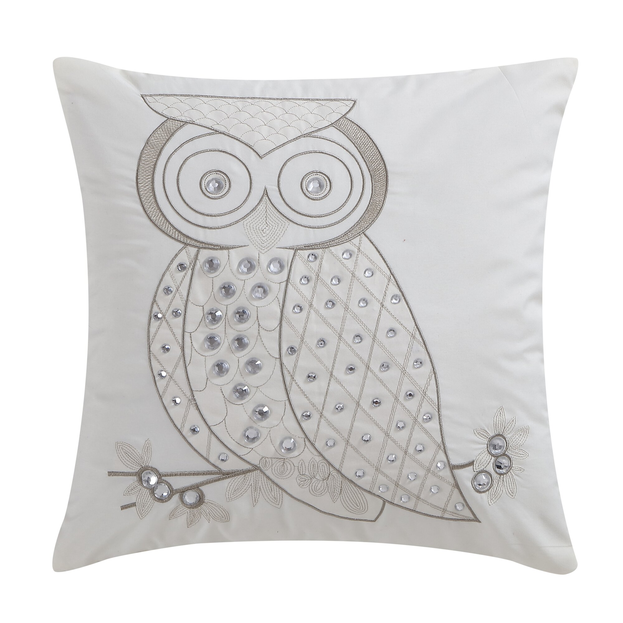 Decorative Jeweled Pillows : Harriet Bee Agustin Owl Jeweled Decorative Throw Pillow & Reviews Wayfair.ca
