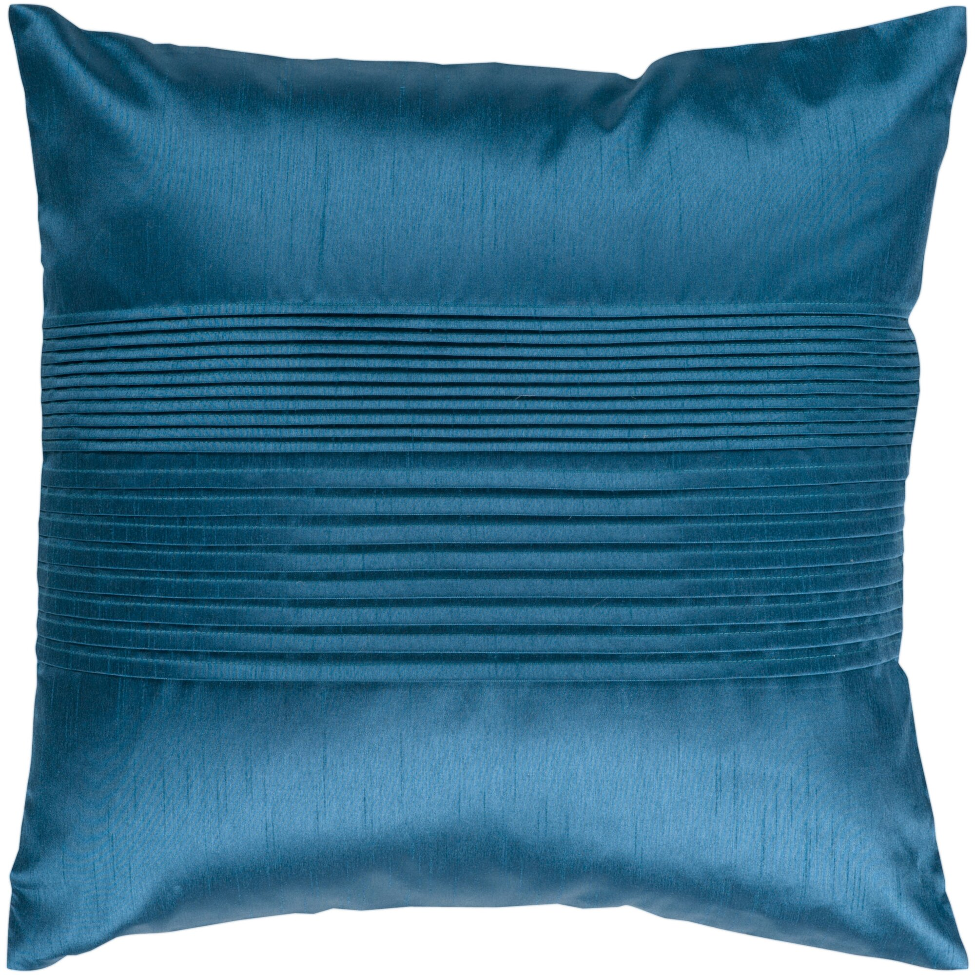 grullo solid pleated throw pillow cover - Decorative Pillow