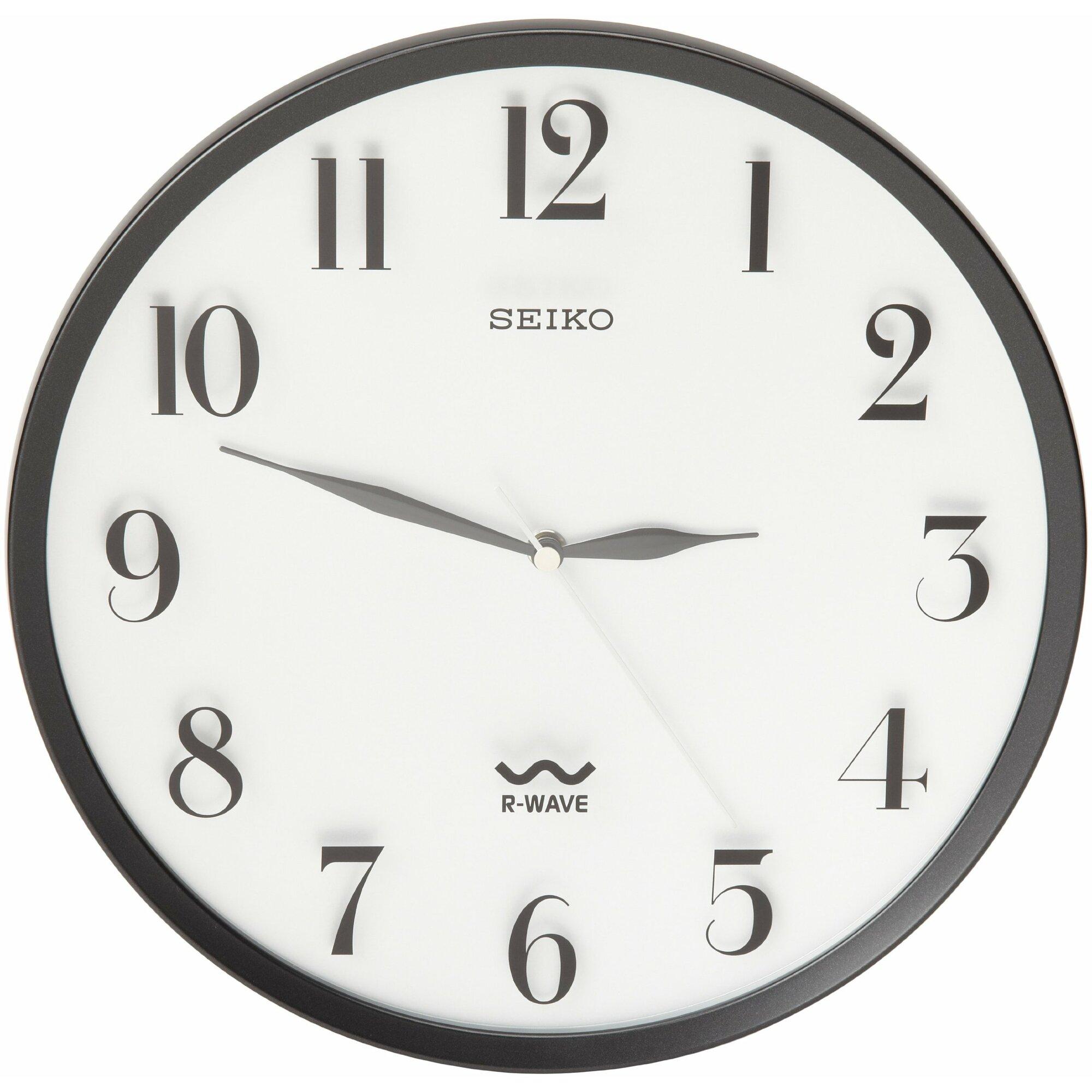 Seiko R Wave 12 25 Quot Atomic Wall Clock Amp Reviews Wayfair