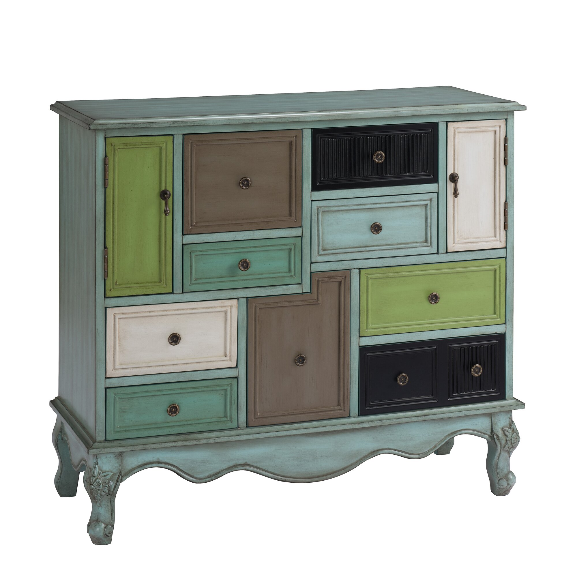 Accent cabinet with glass doors - Accent Cabinet With Glass Doors