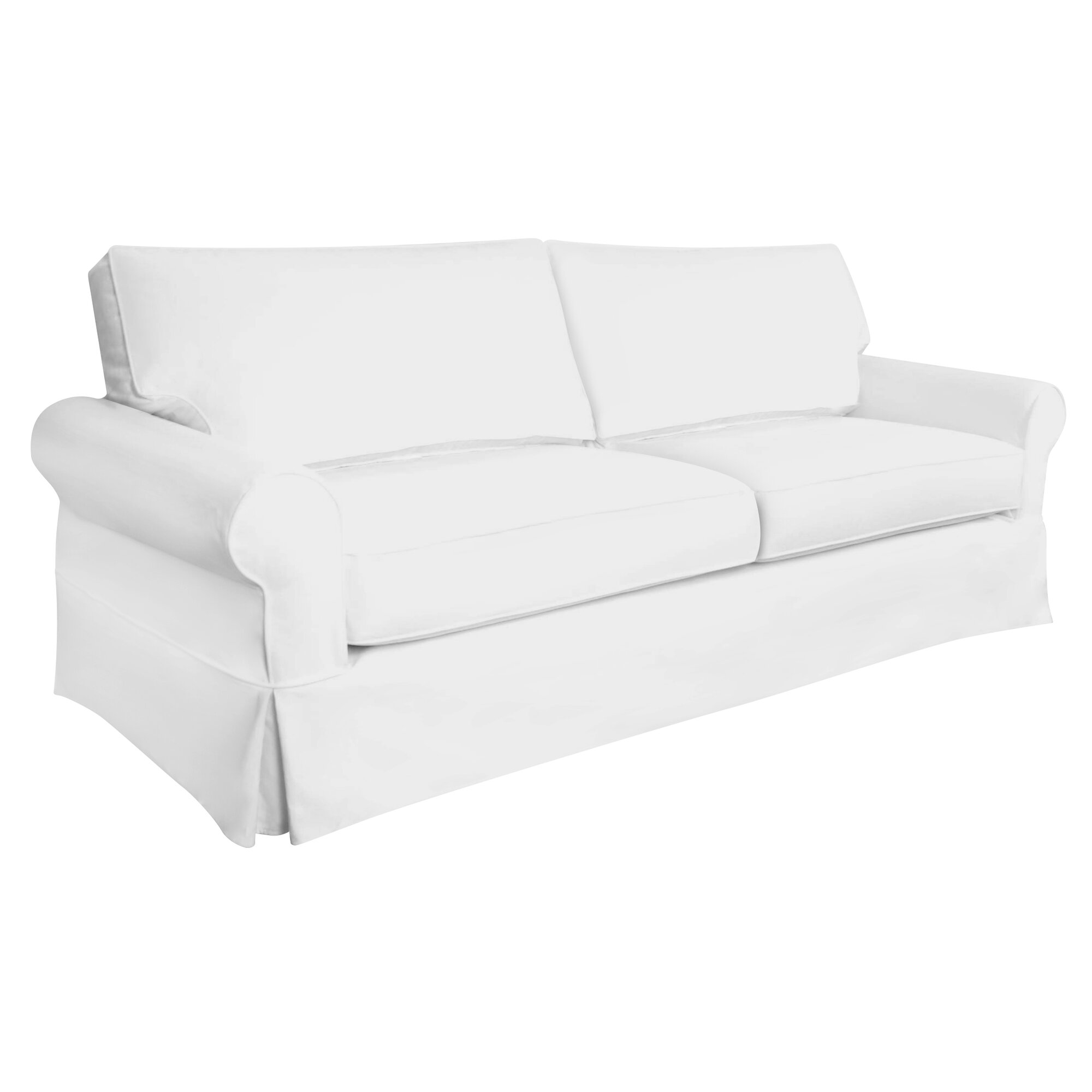 Sandy Slipcovered Sofa & Reviews