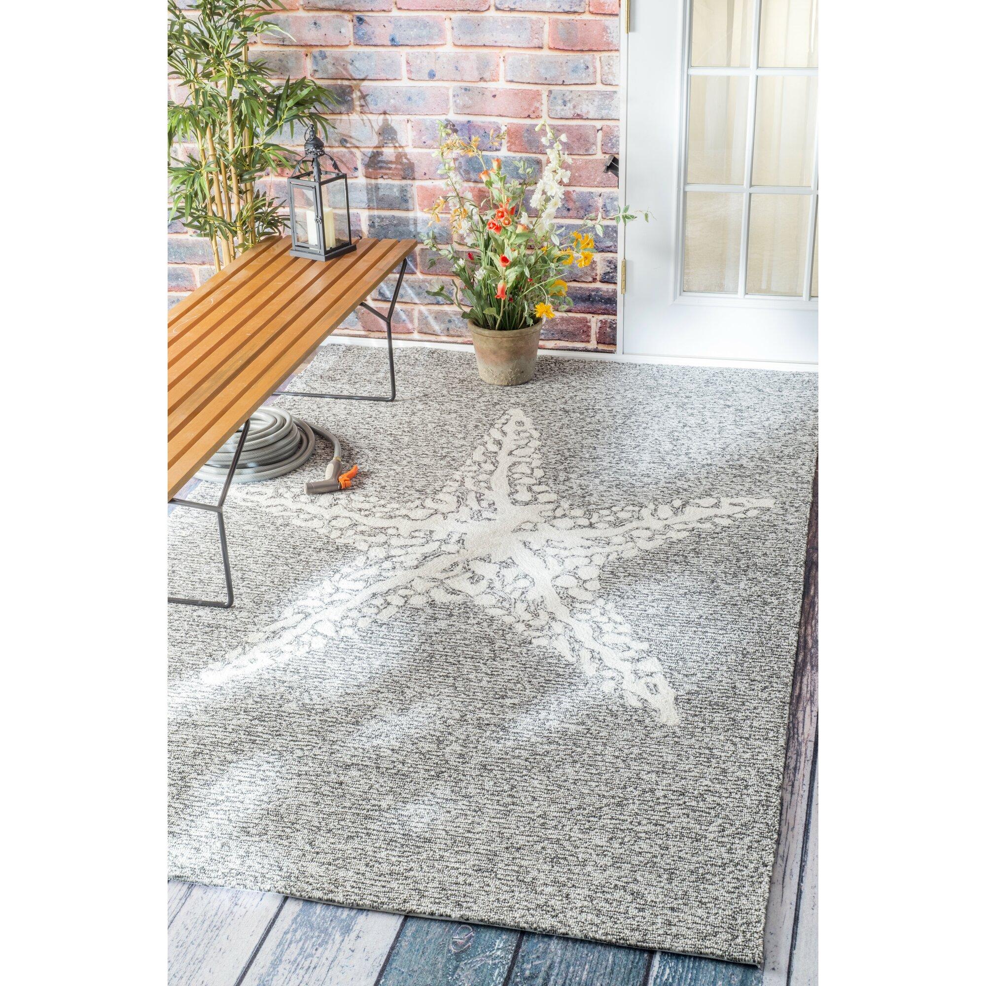 Bloomfield Gray Indoor Outdoor Area Rug & Reviews