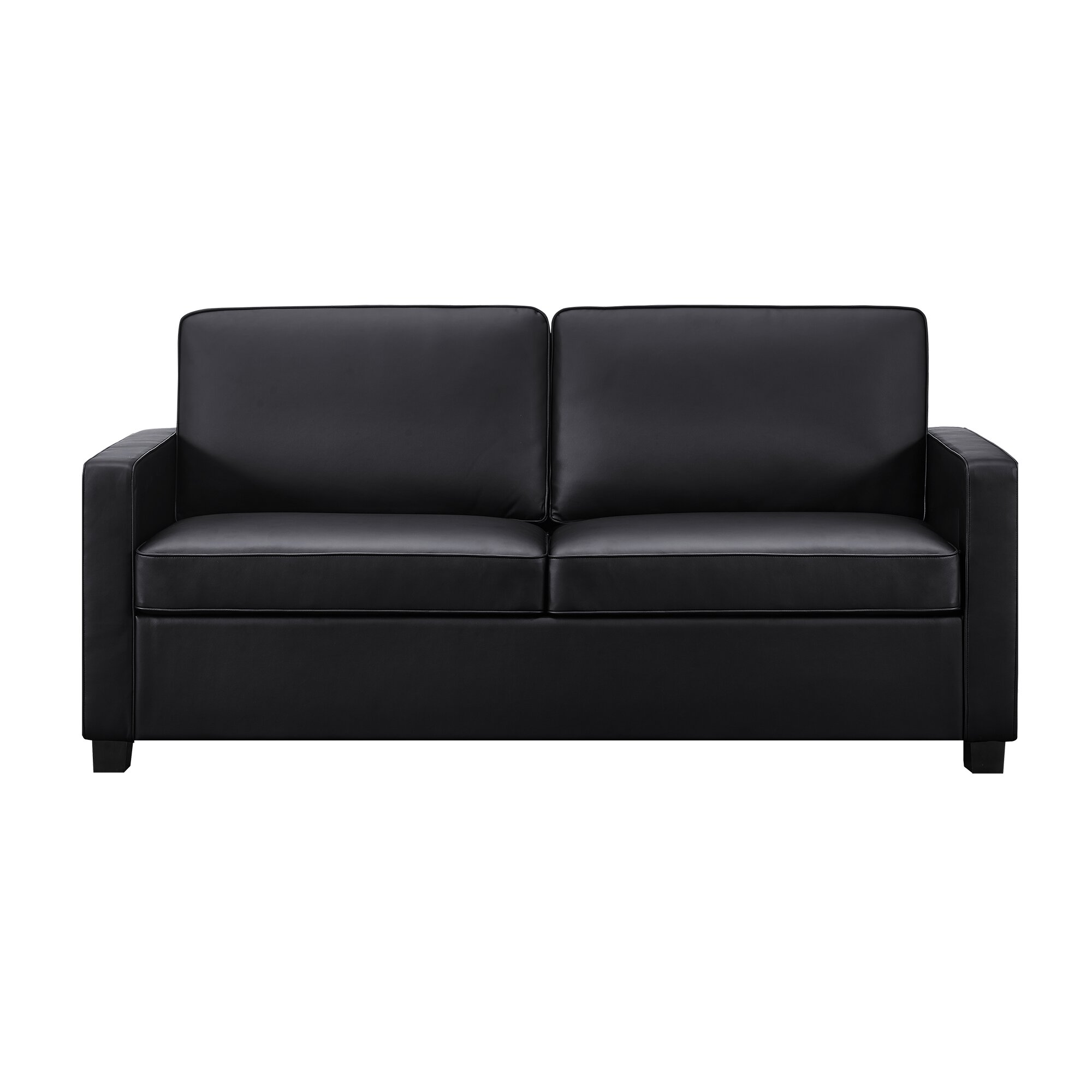Leather Twin Sofa Sleeper Savvy Boulder In