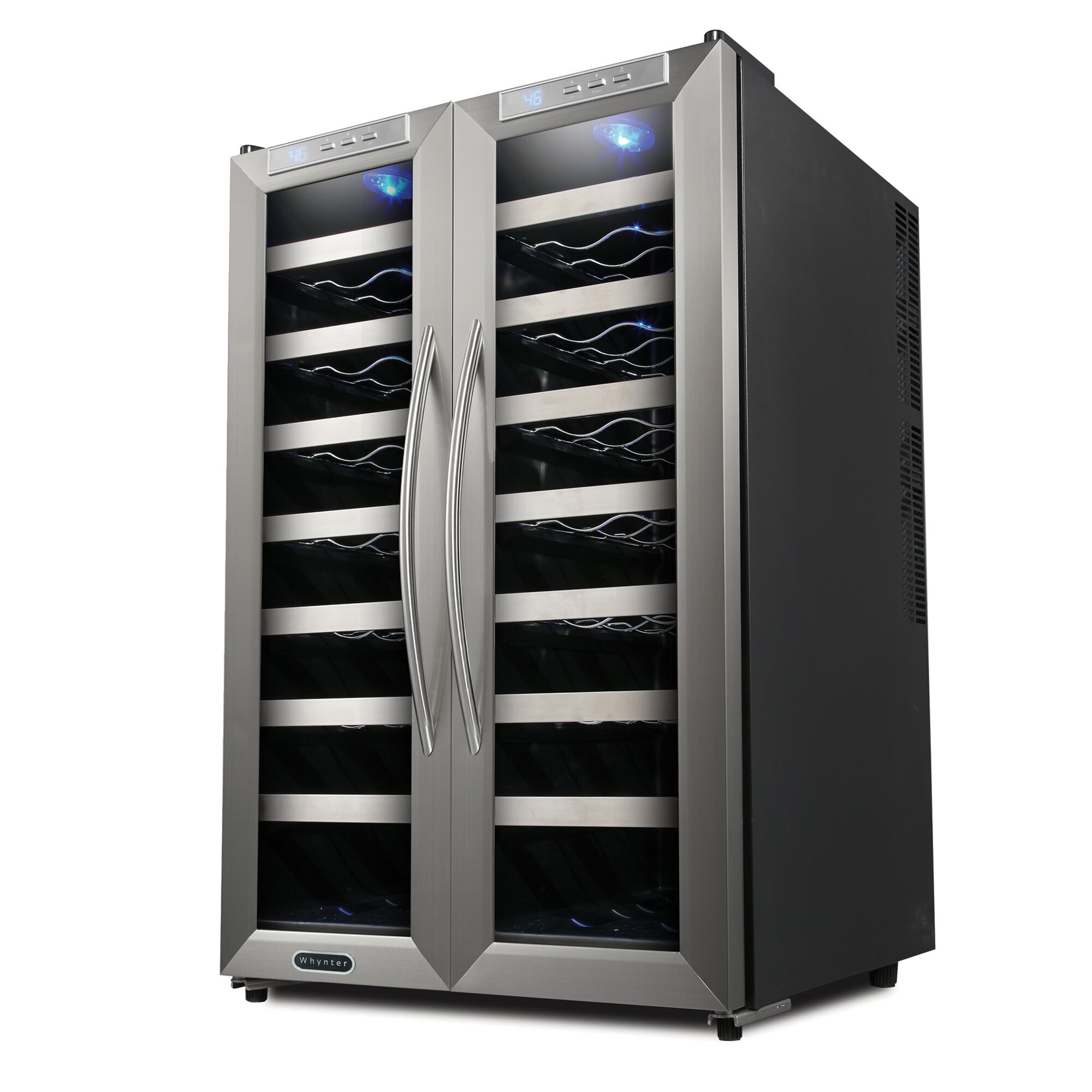 dual zone wine cooler whynter 32 bottle dual zone freestanding wine cooler 31169