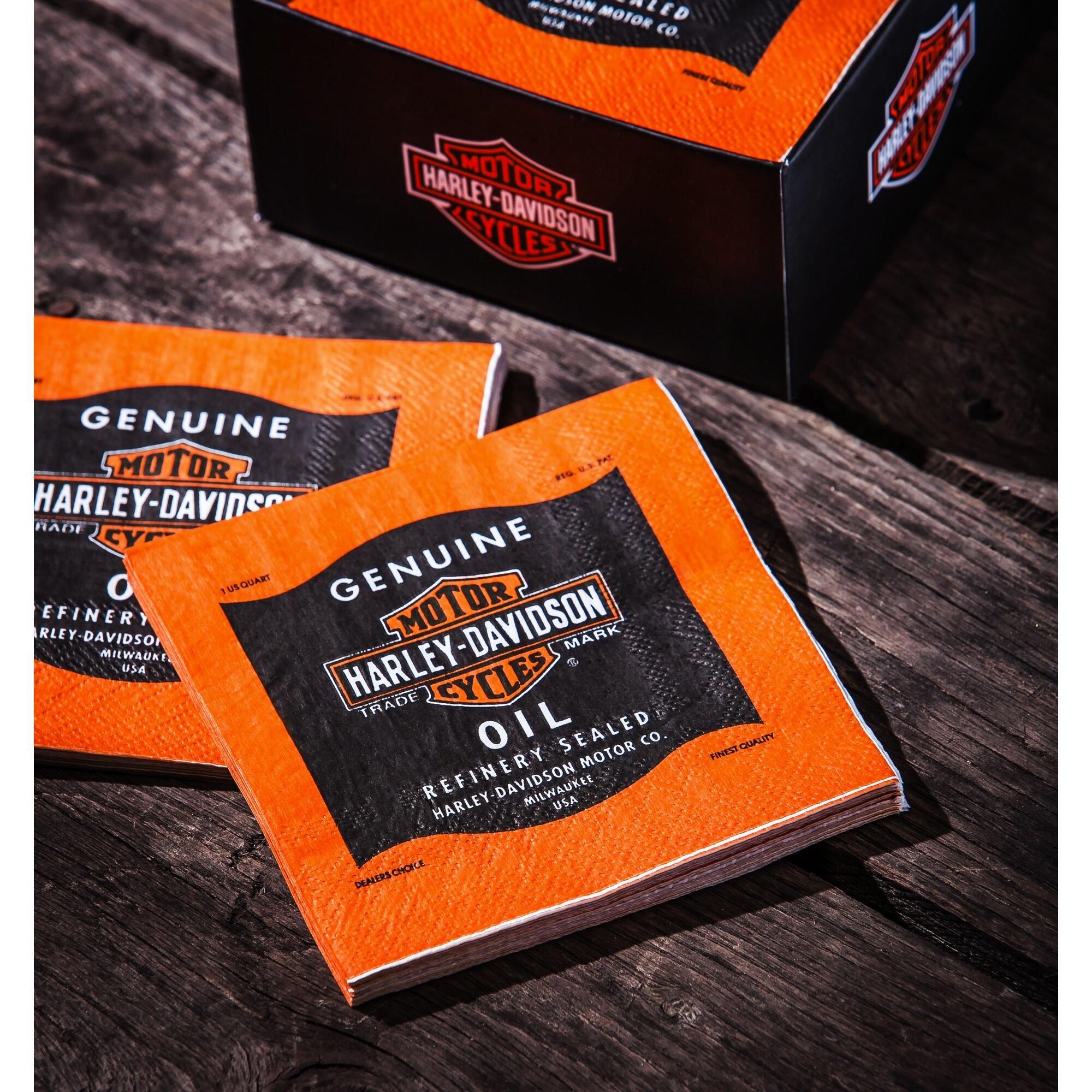 Harley color carpet tiles - Harley Davidson Taligate Napkin