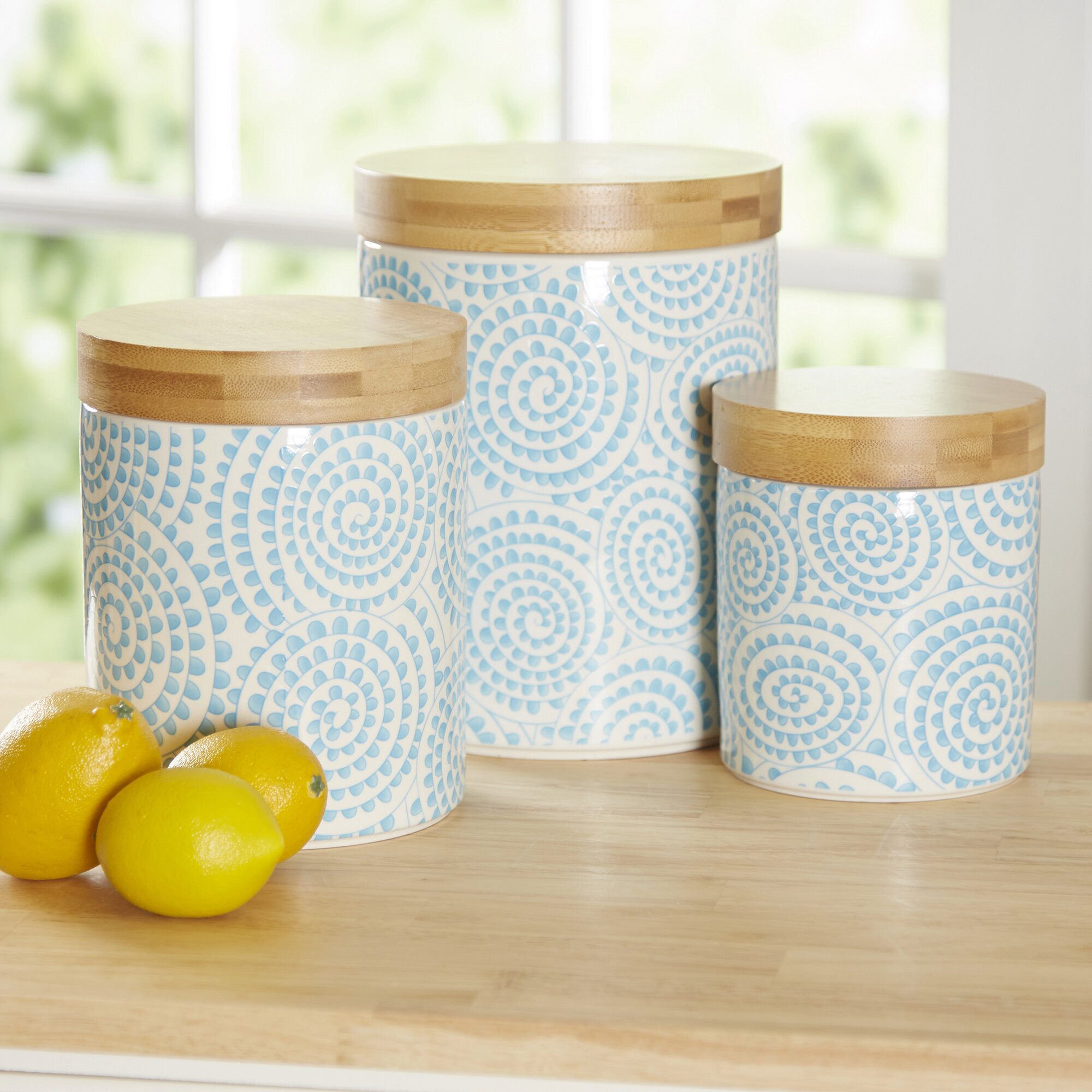 Birch Lanea Wilshire Piece Kitchen Canister Set Reviews Wayfair Wilshire Piece Kitchen Canister Set