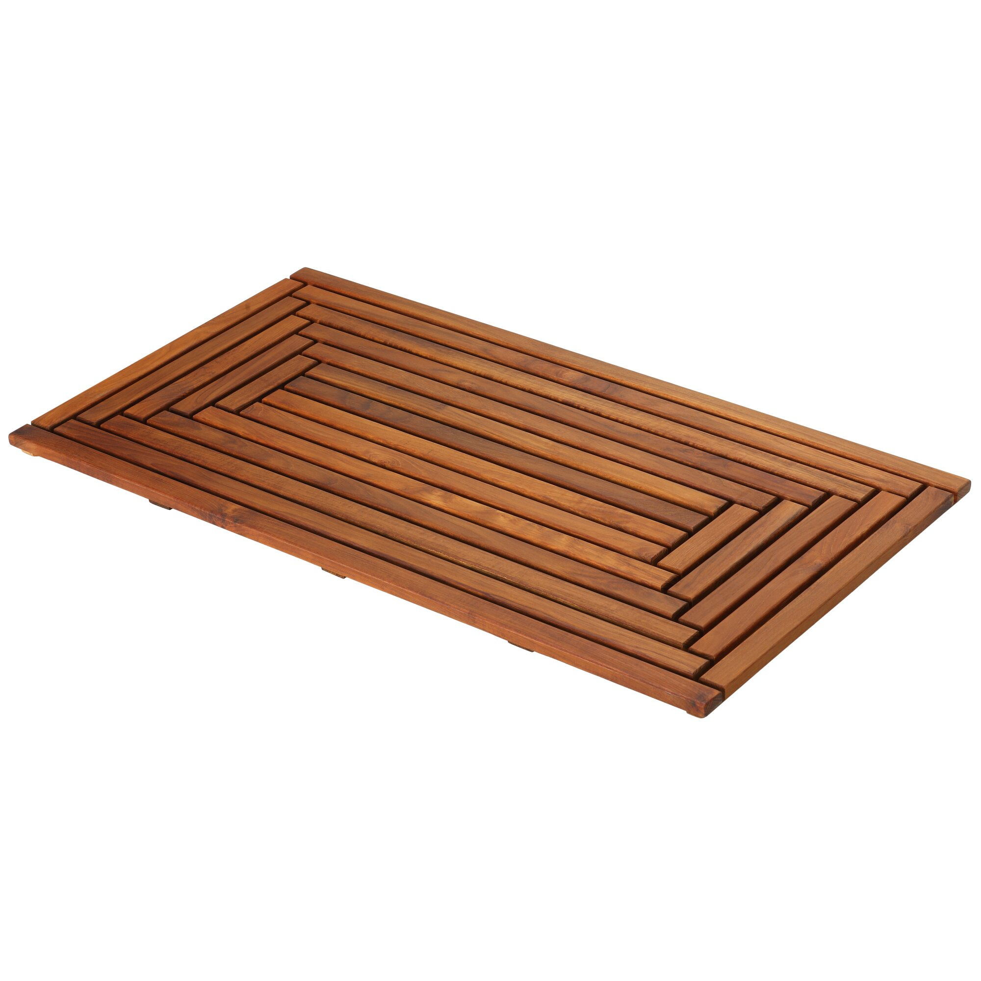 Baredecor Solid Teak Wood Shower Mat Amp Reviews Wayfair