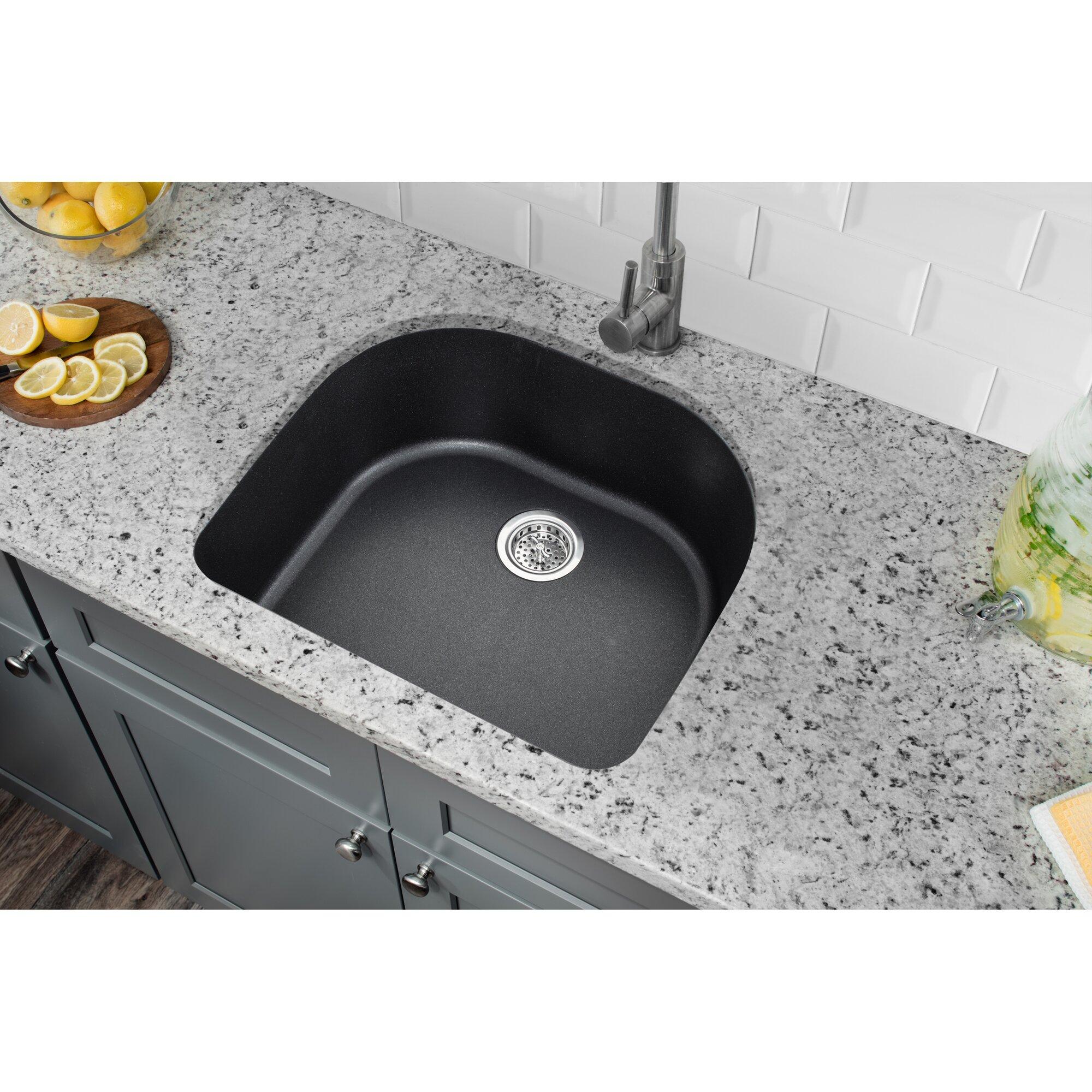 d shaped kitchen sink