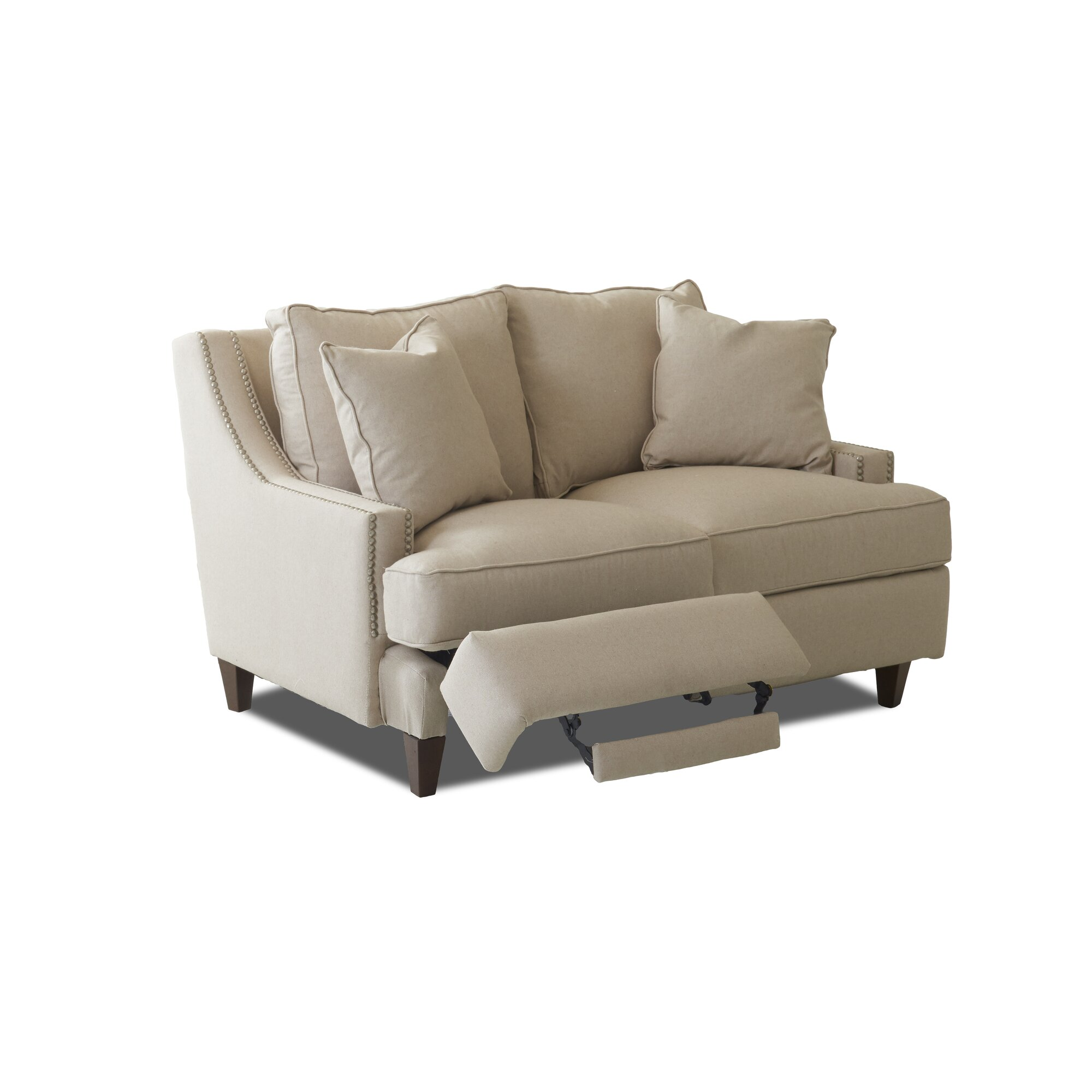 Tricia Power Hybrid Reclining Loveseat Amp Reviews Birch Lane