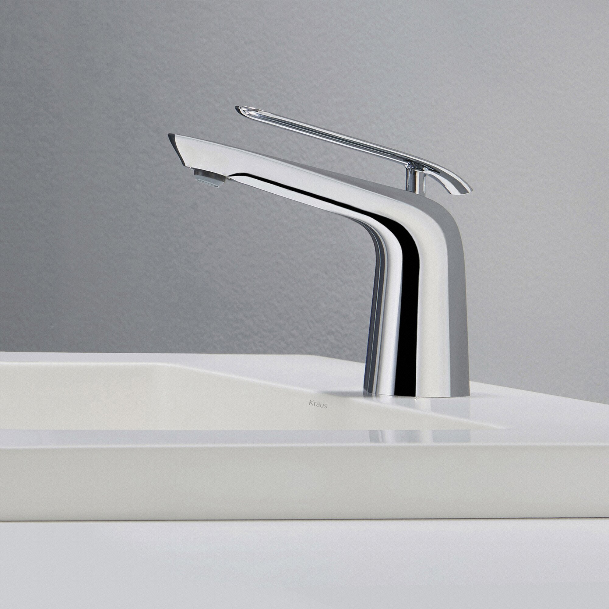 Single Hole 2handle Higharc Sink Bathroom Faucet In Chrome With 5