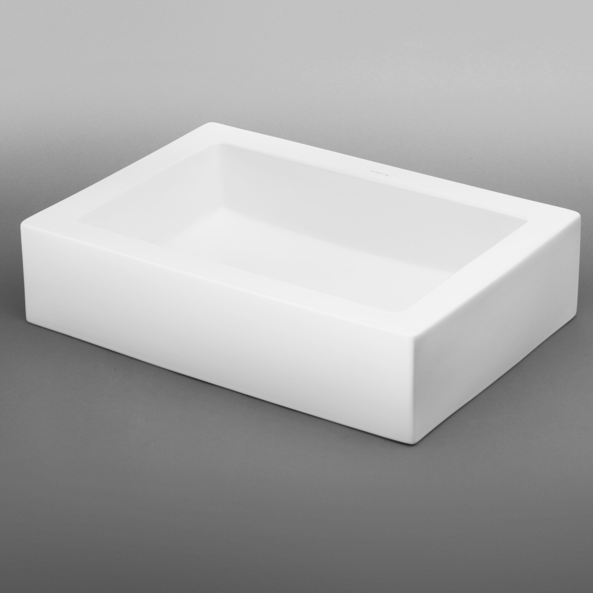 ronbow square tapered ceramic dropin bathroom sink in white  - ronbow format rectangle vessel bathroom sink reviews wayfair  ronbowbathroom sinks