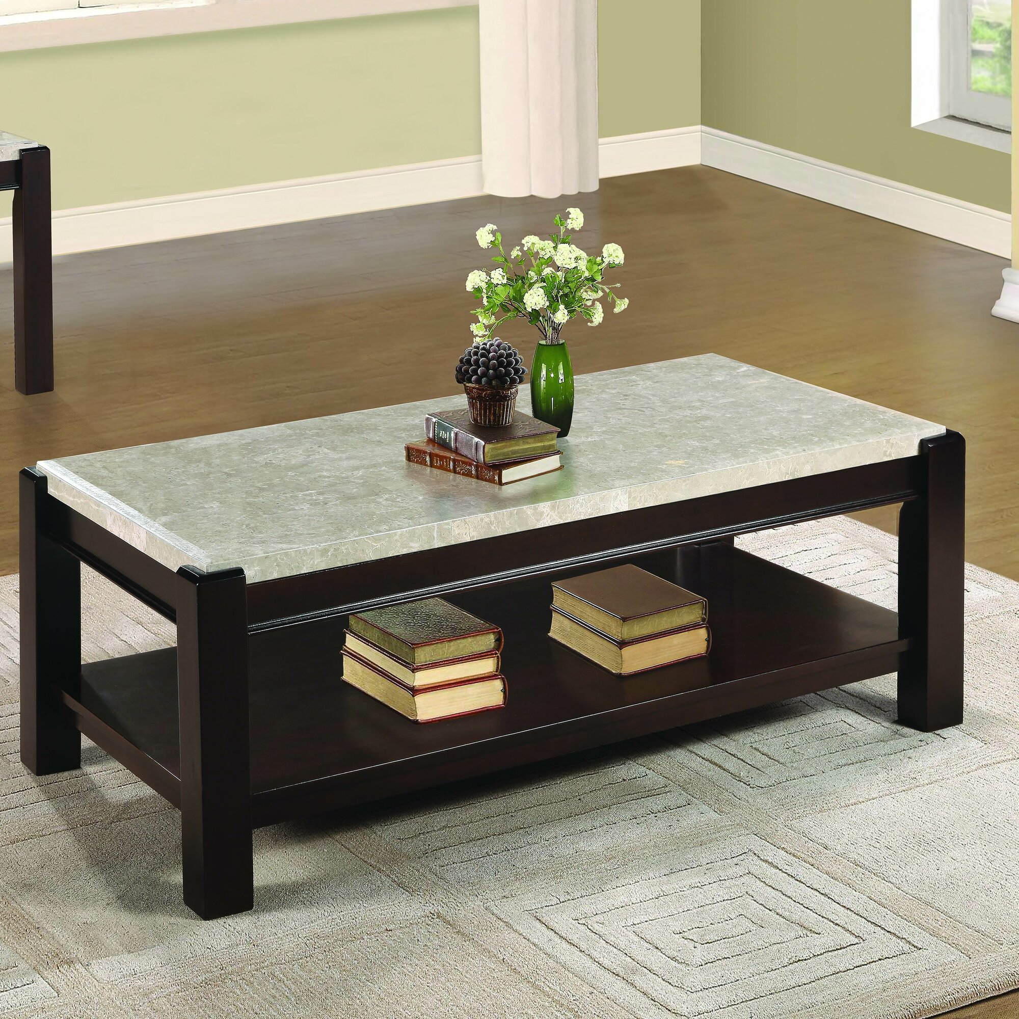 Antique square side table - Wobnar Coffee Table