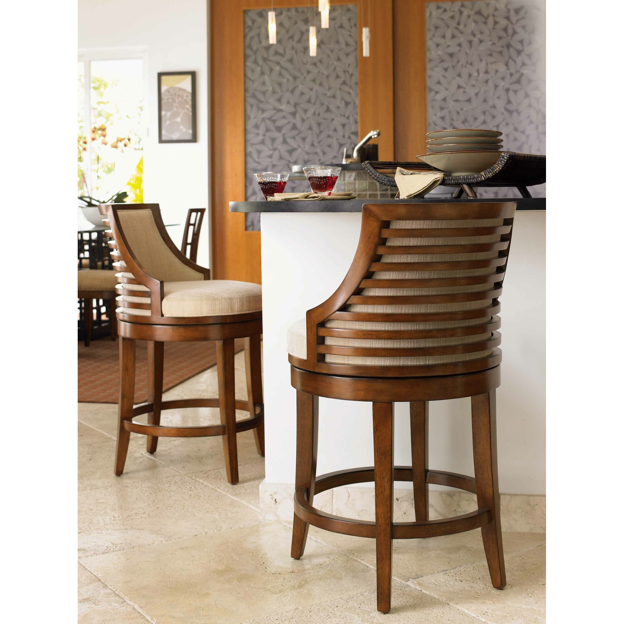 Tommy Bahama Home Ocean Club 24 Quot Swivel Bar Stool