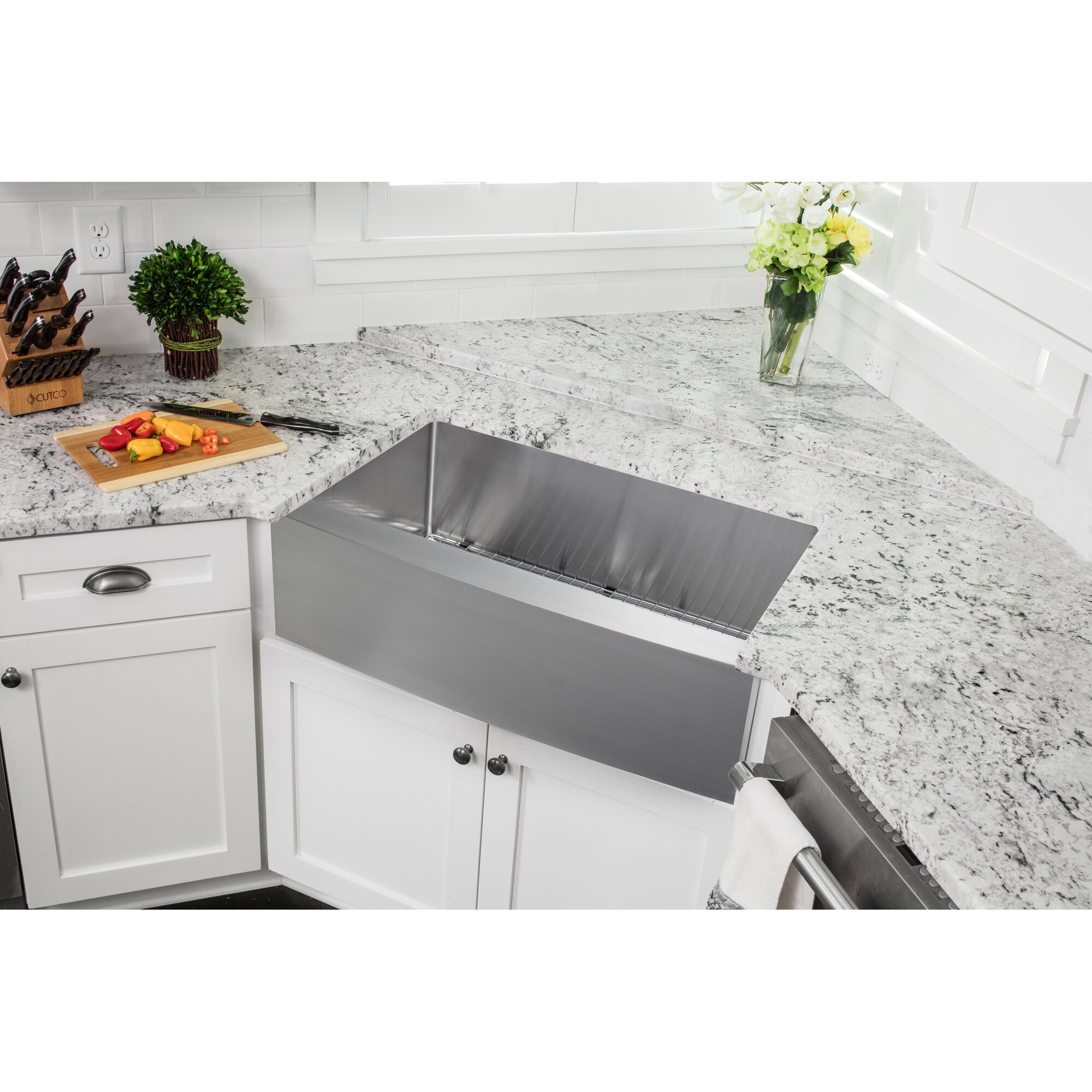 35875 x 2075 single bowl farmhouseapron kitchen sink - Apron Kitchen Sinks